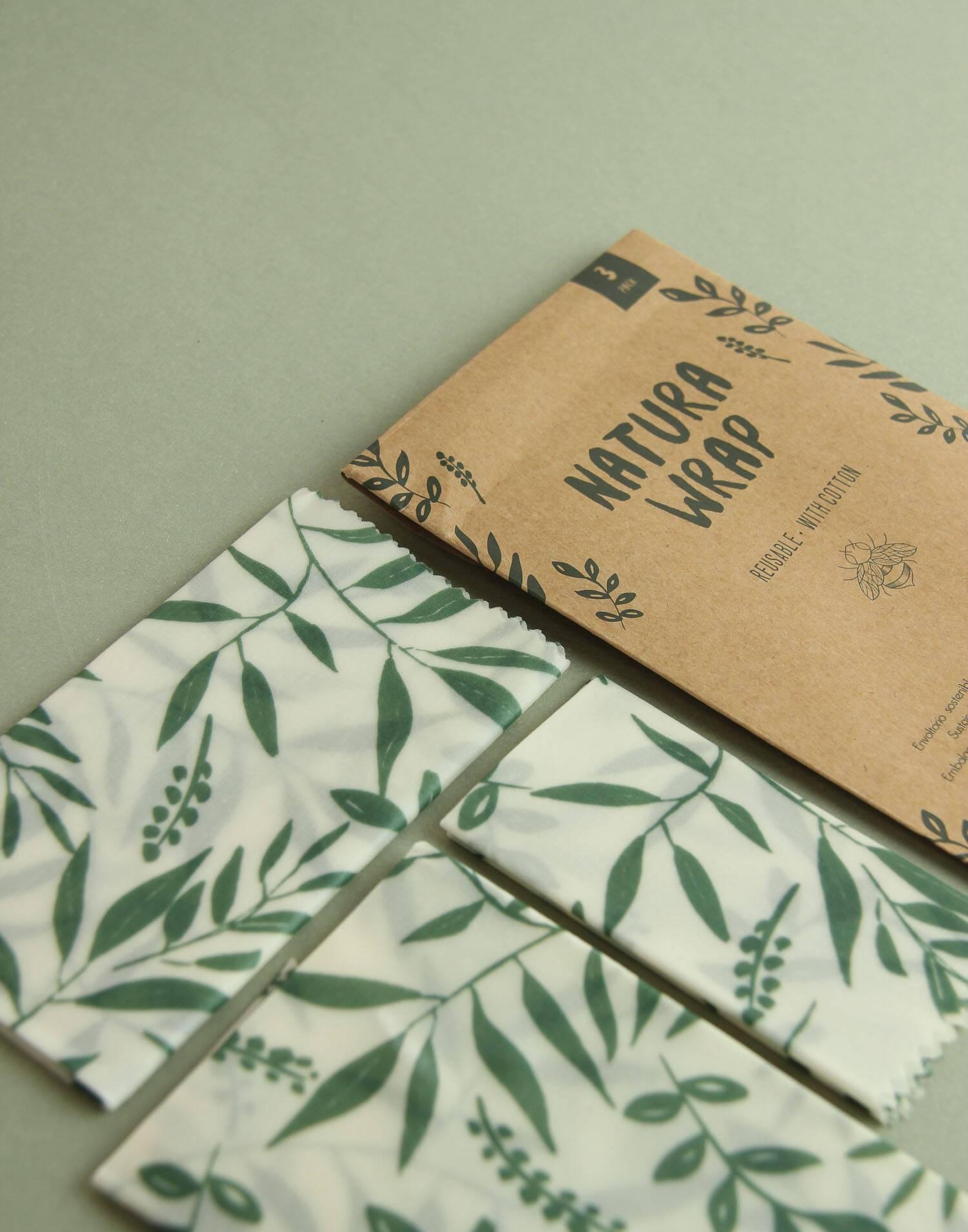 Set 3 fogli carta cera d'api
