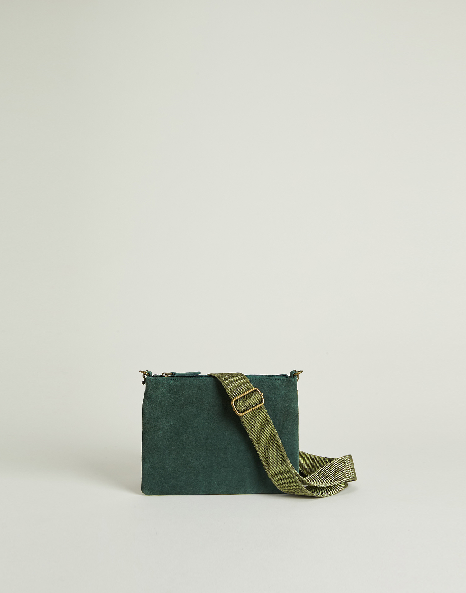 Basic suede bag convertible in a belt bag