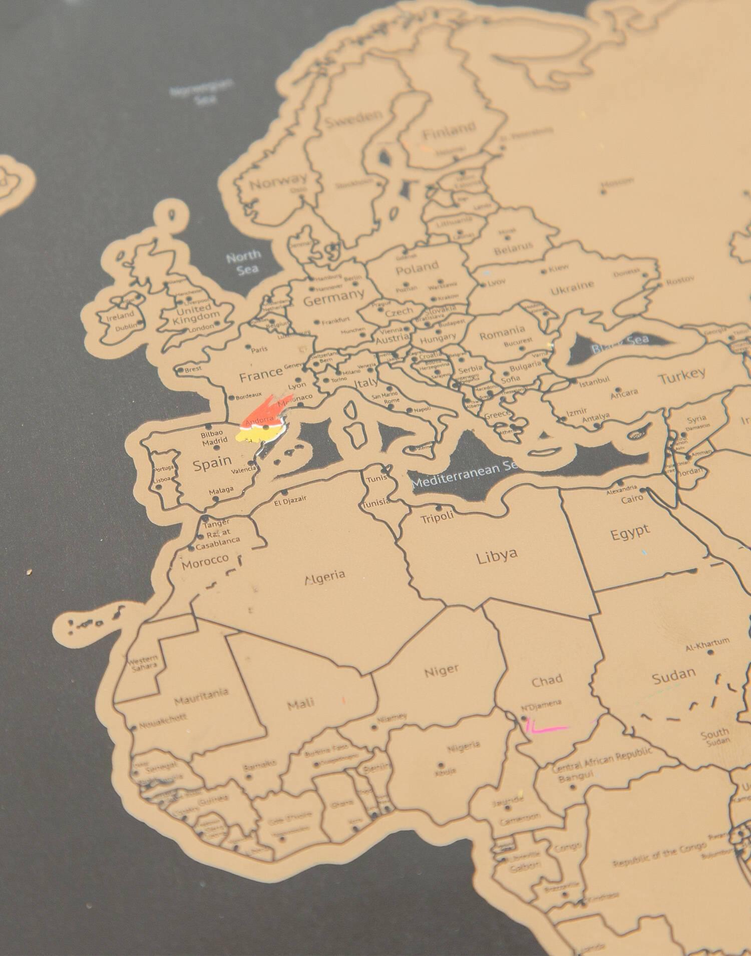 Mapa rascar grande