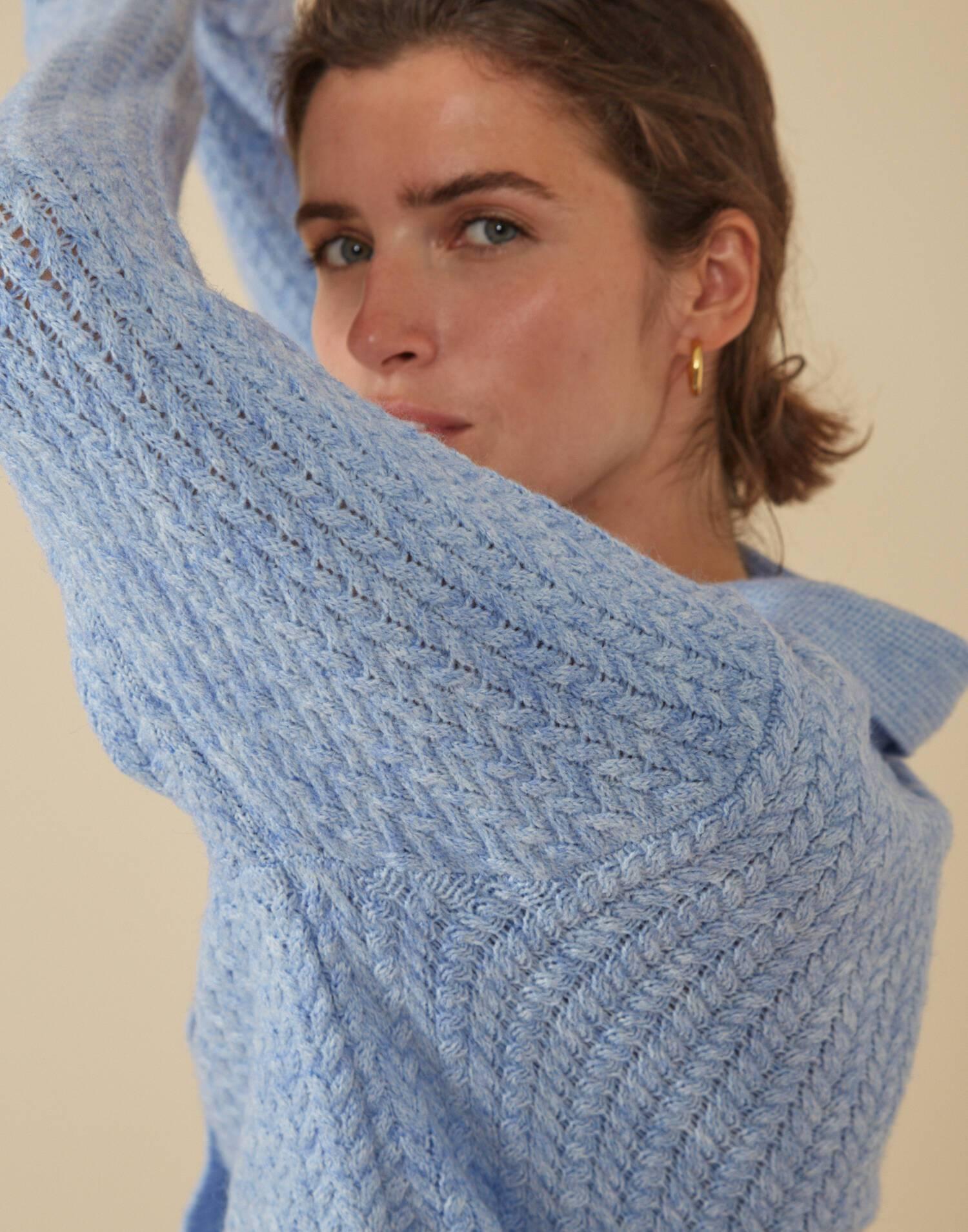 Cárdigan tricot reciclado punto espiga