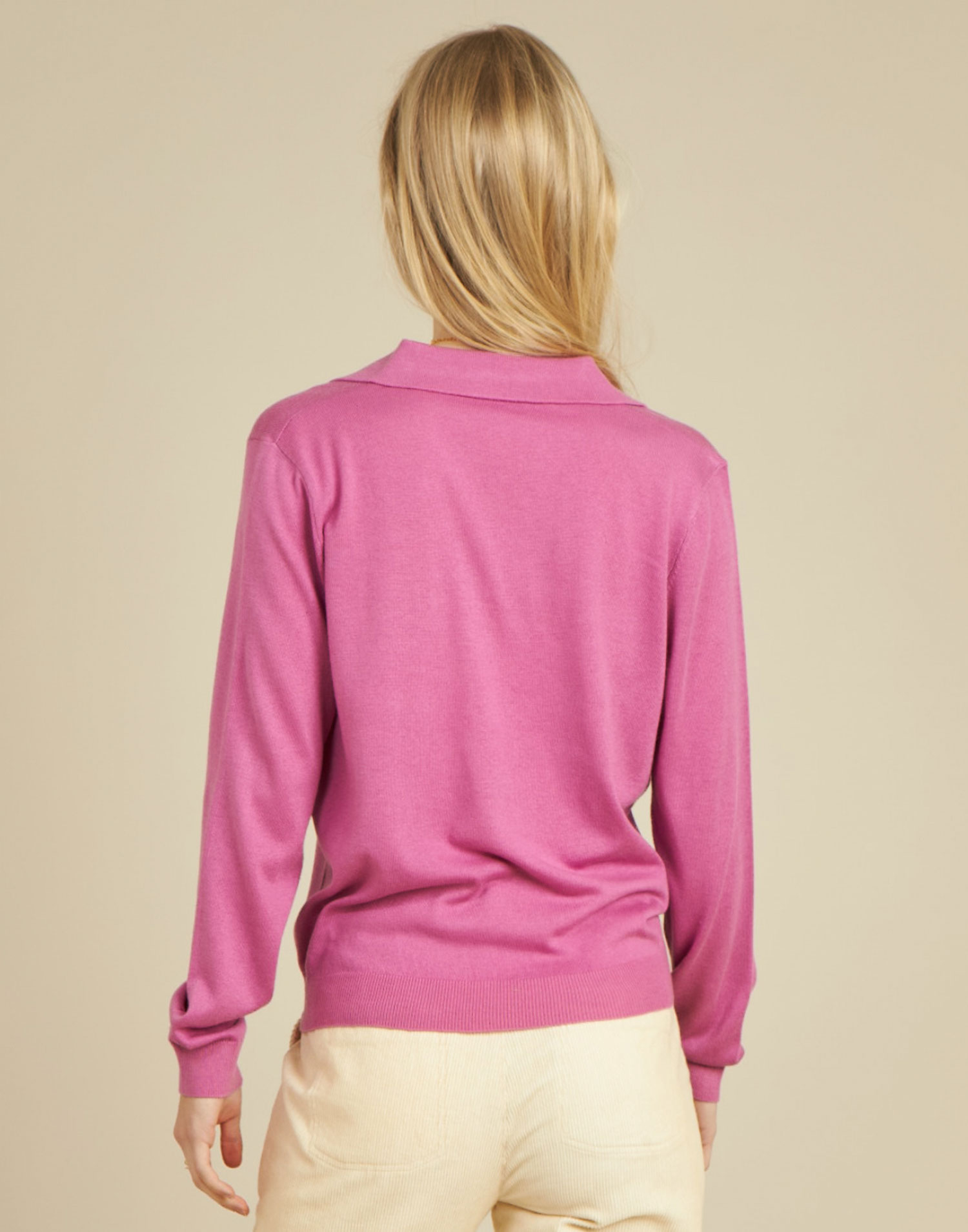 Pull polo col ouvert