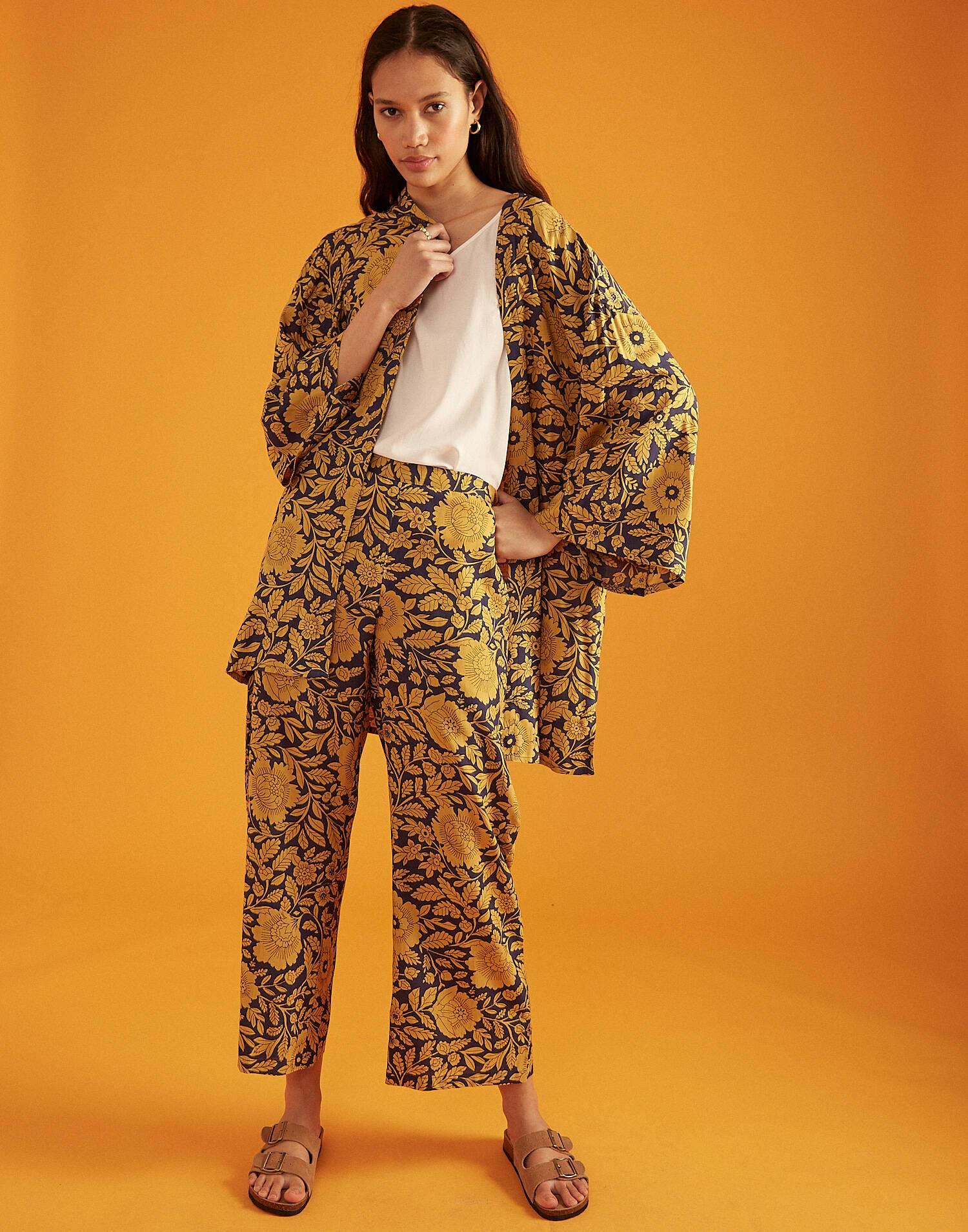 Kimono fleur bicolore