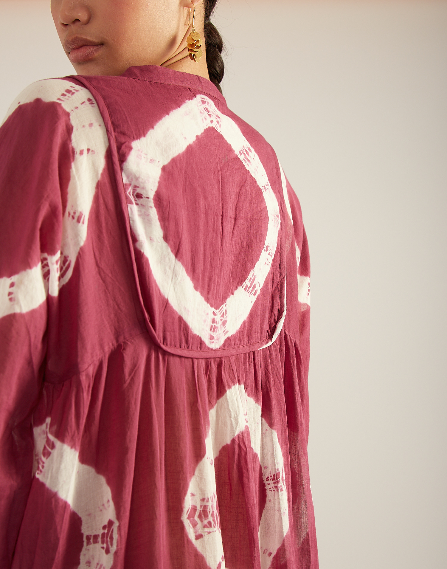Robe manches longues tie dye