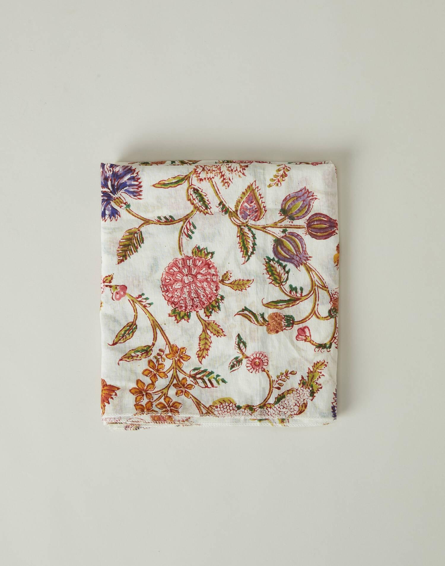 Fular print flores indias