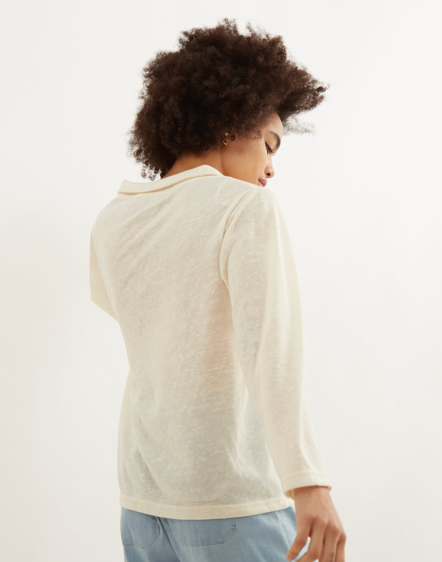 T-shirt tissu rustique