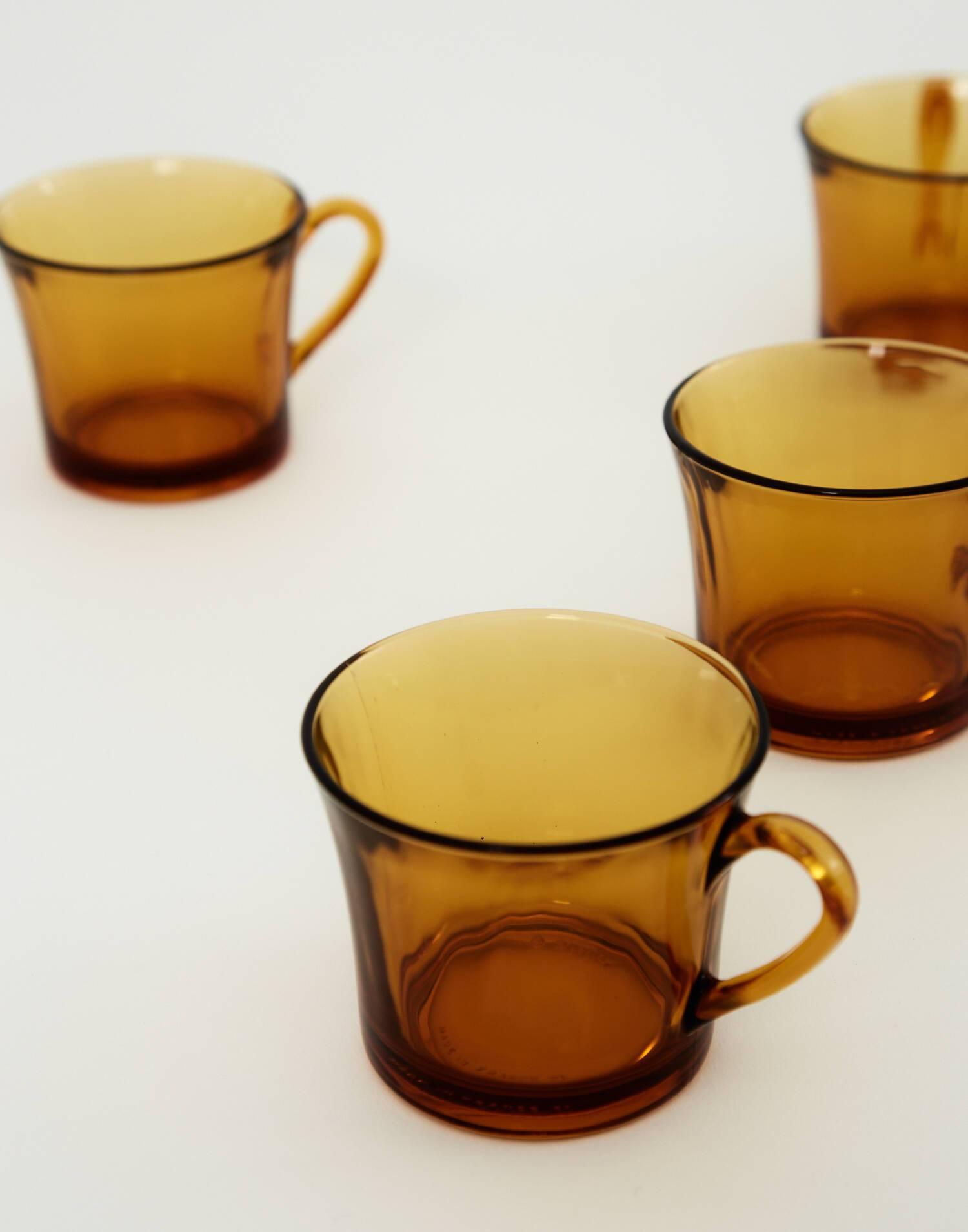 Set de 6 tazas 18 cl ámbar