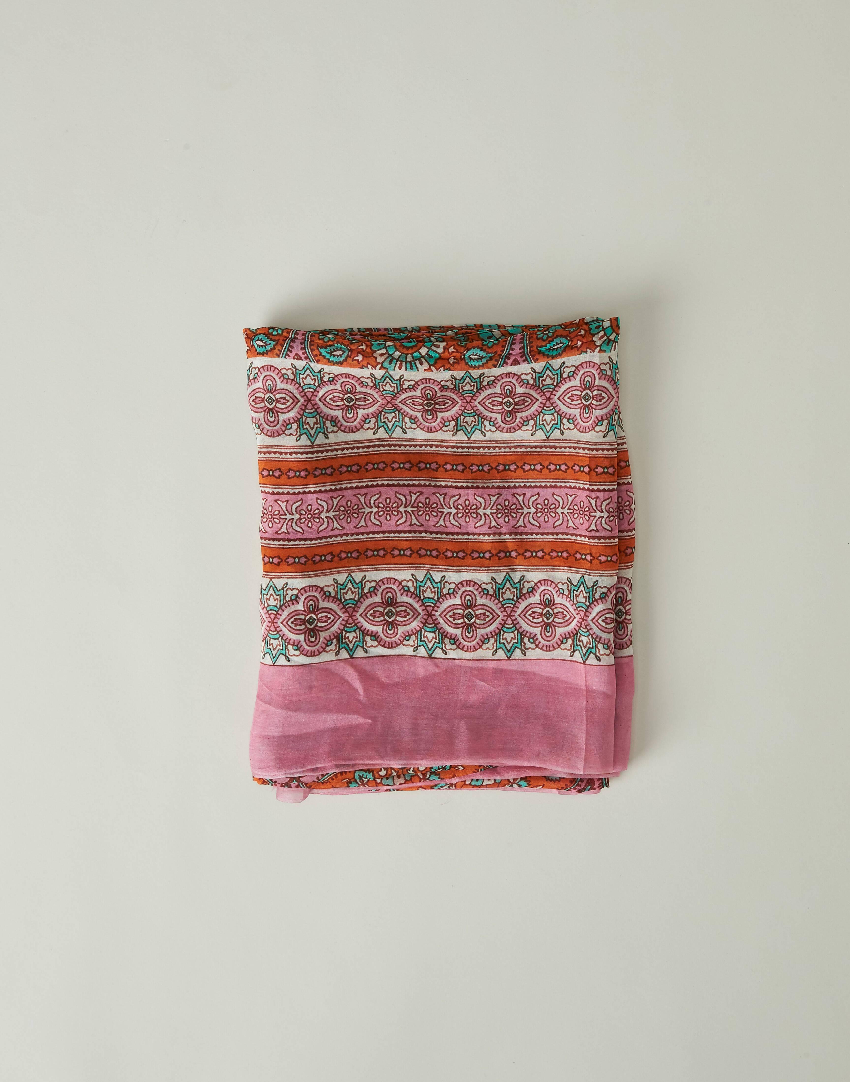 Silk printed foulard