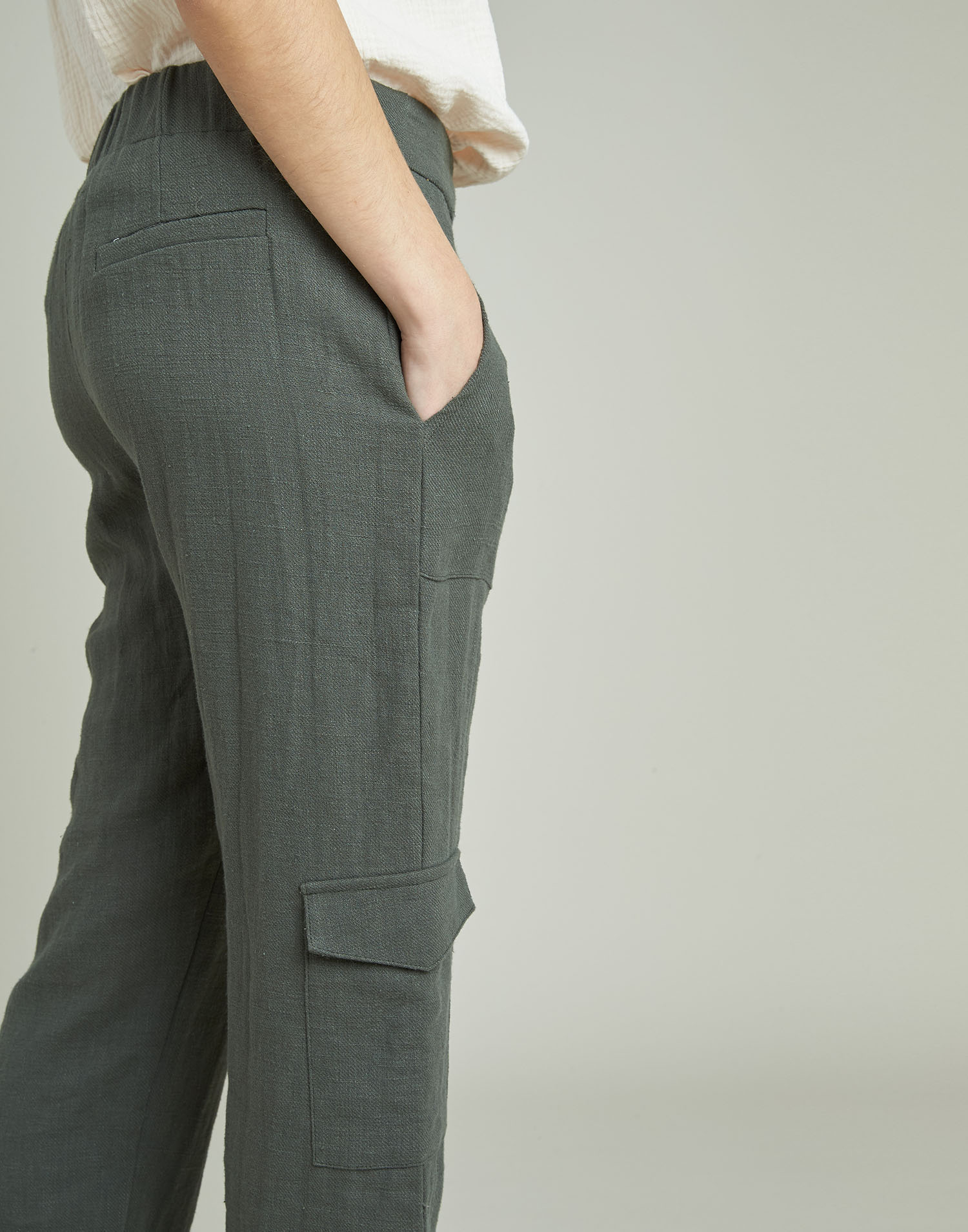 Ramie cargo pants