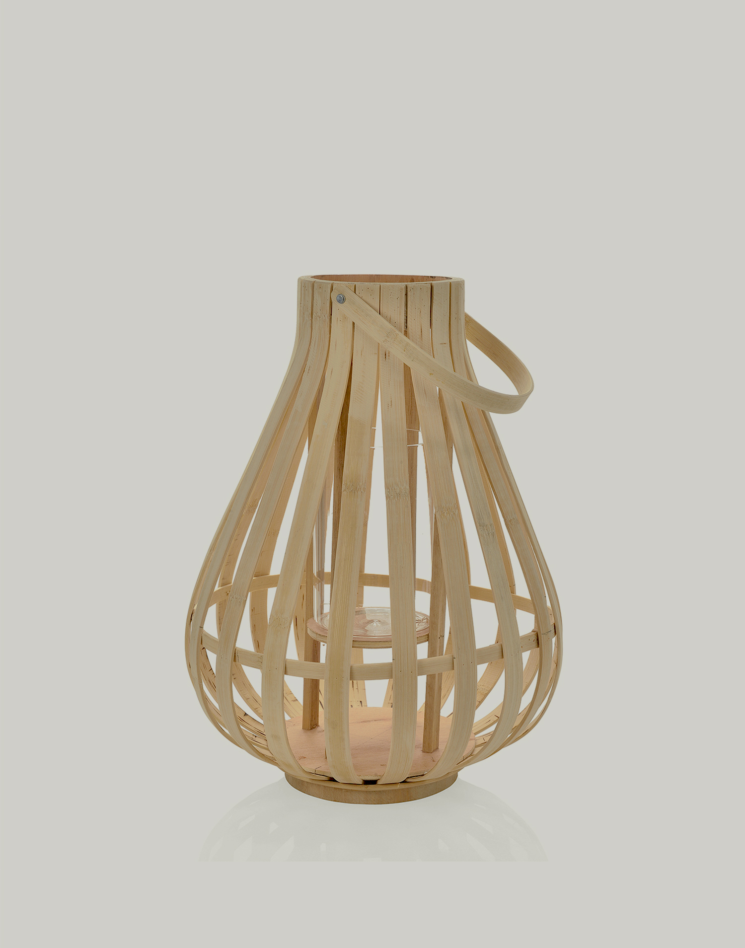 Bamboo candle holder 25x31 cm