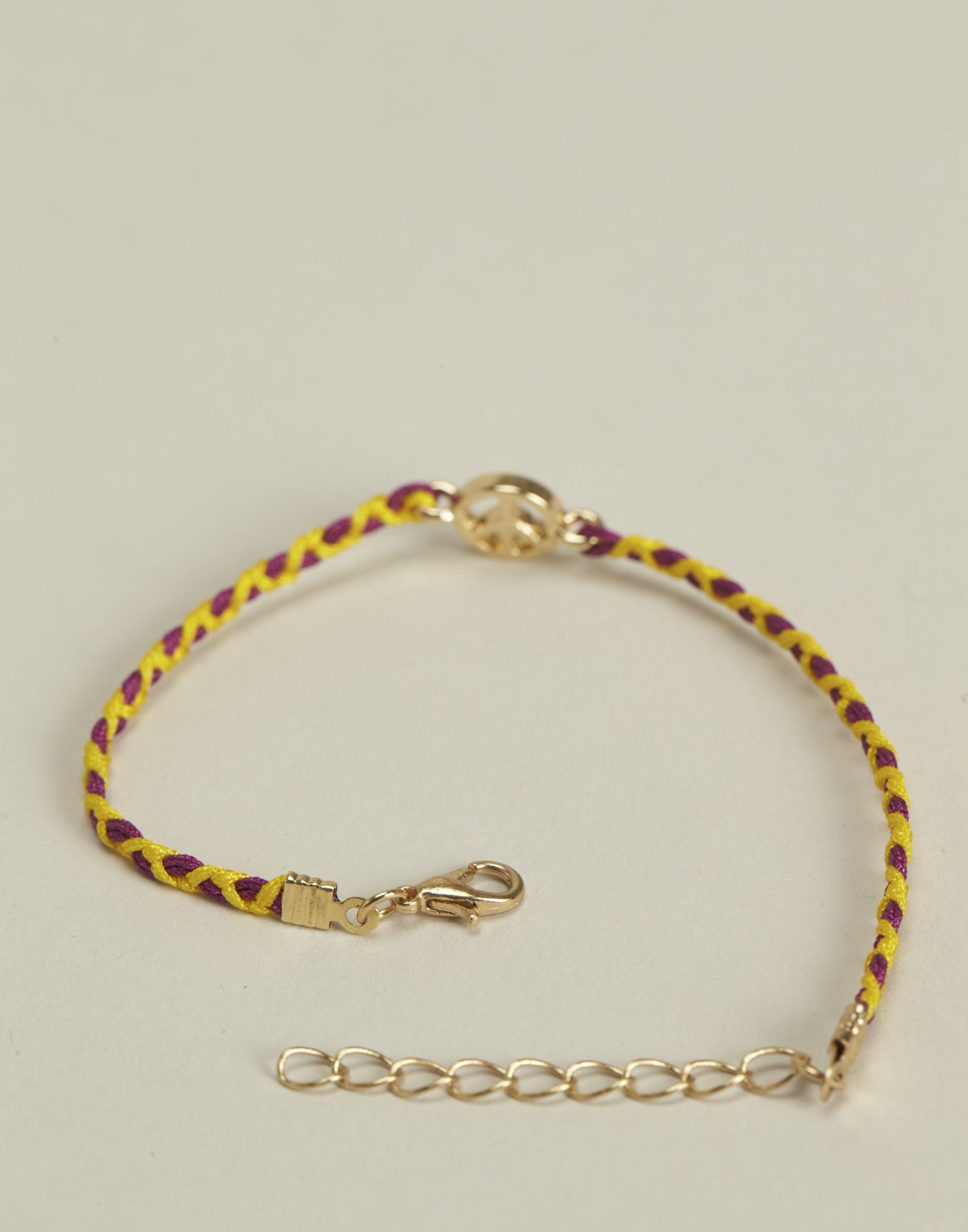 Braided thread bracelet