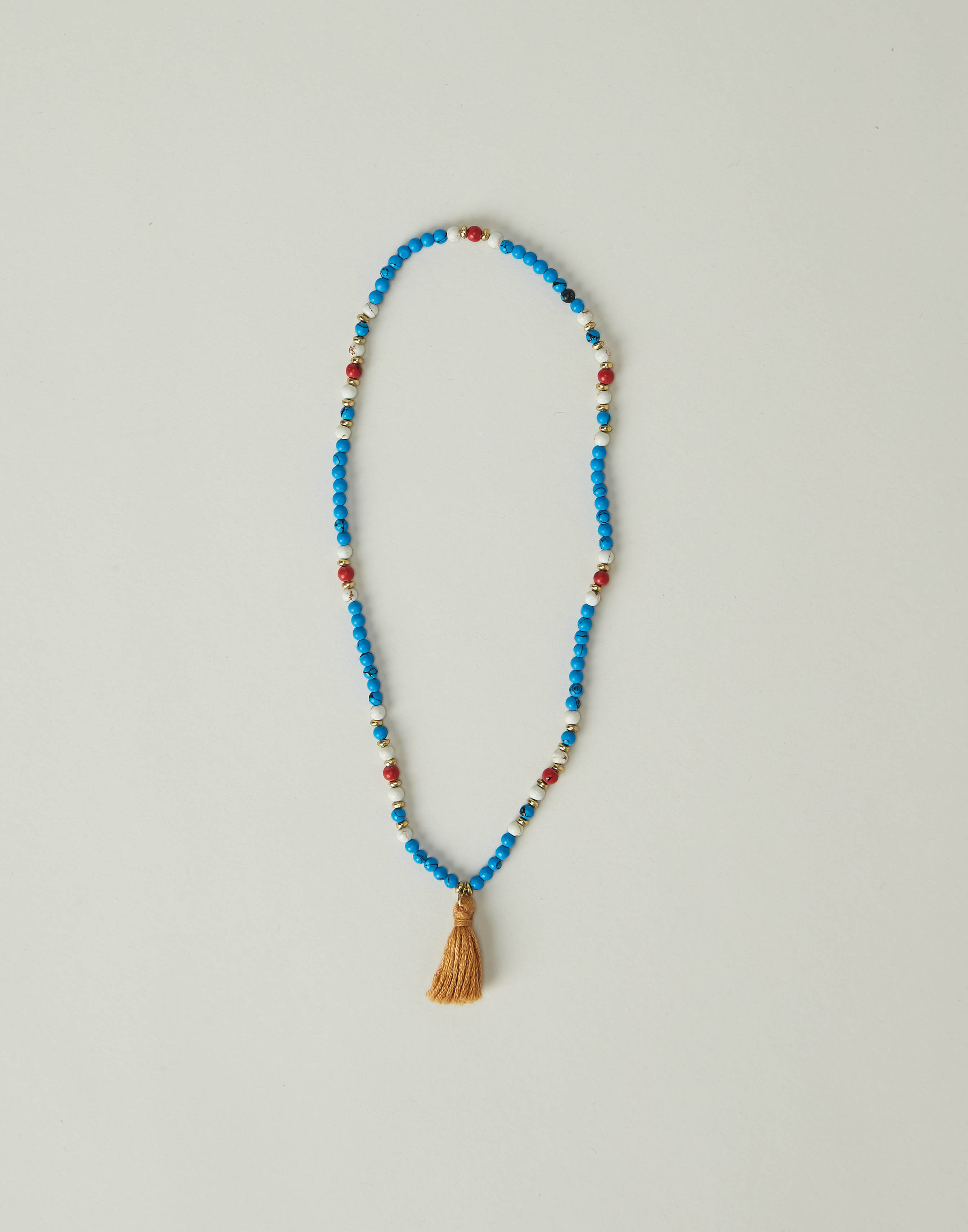 Beads and pompom necklace