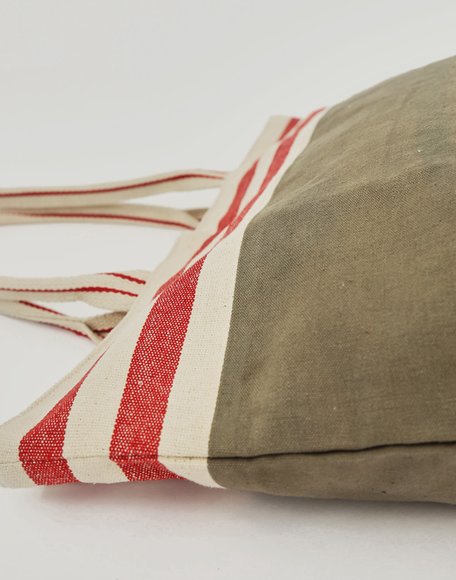 Striped cotton tote bag