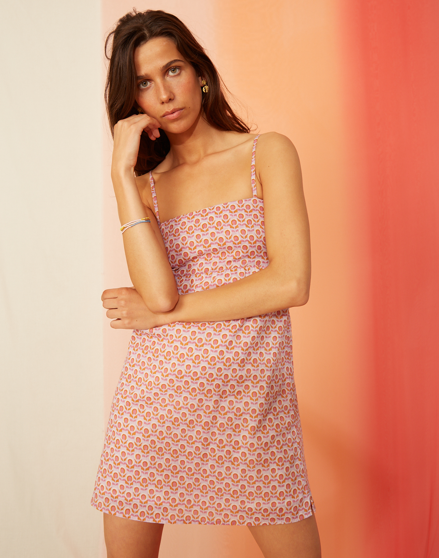 Open back retro mini dress