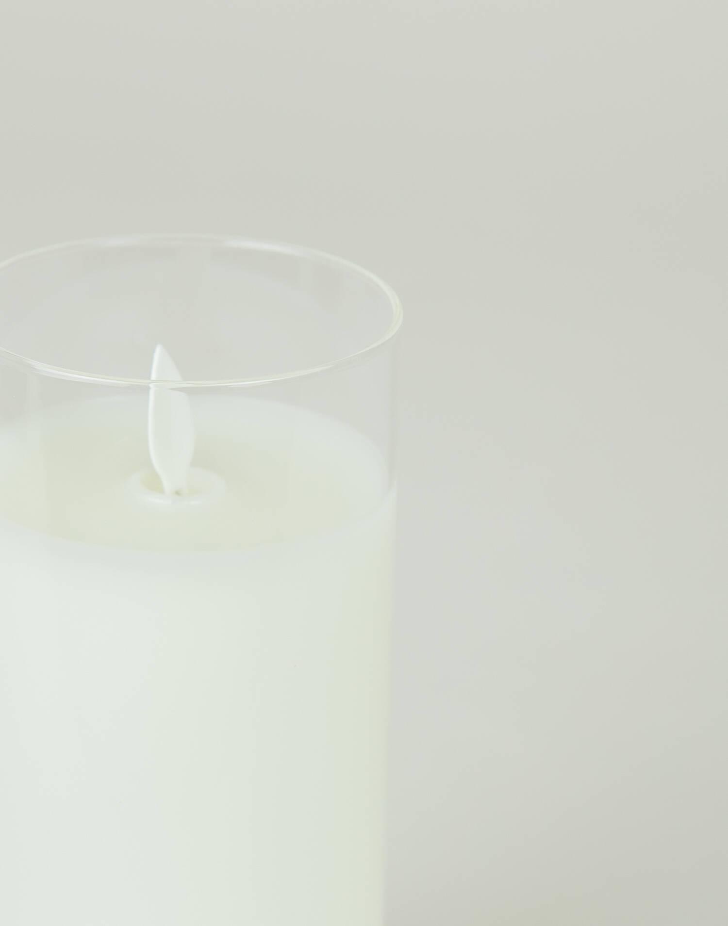 Vela led con vaso grande