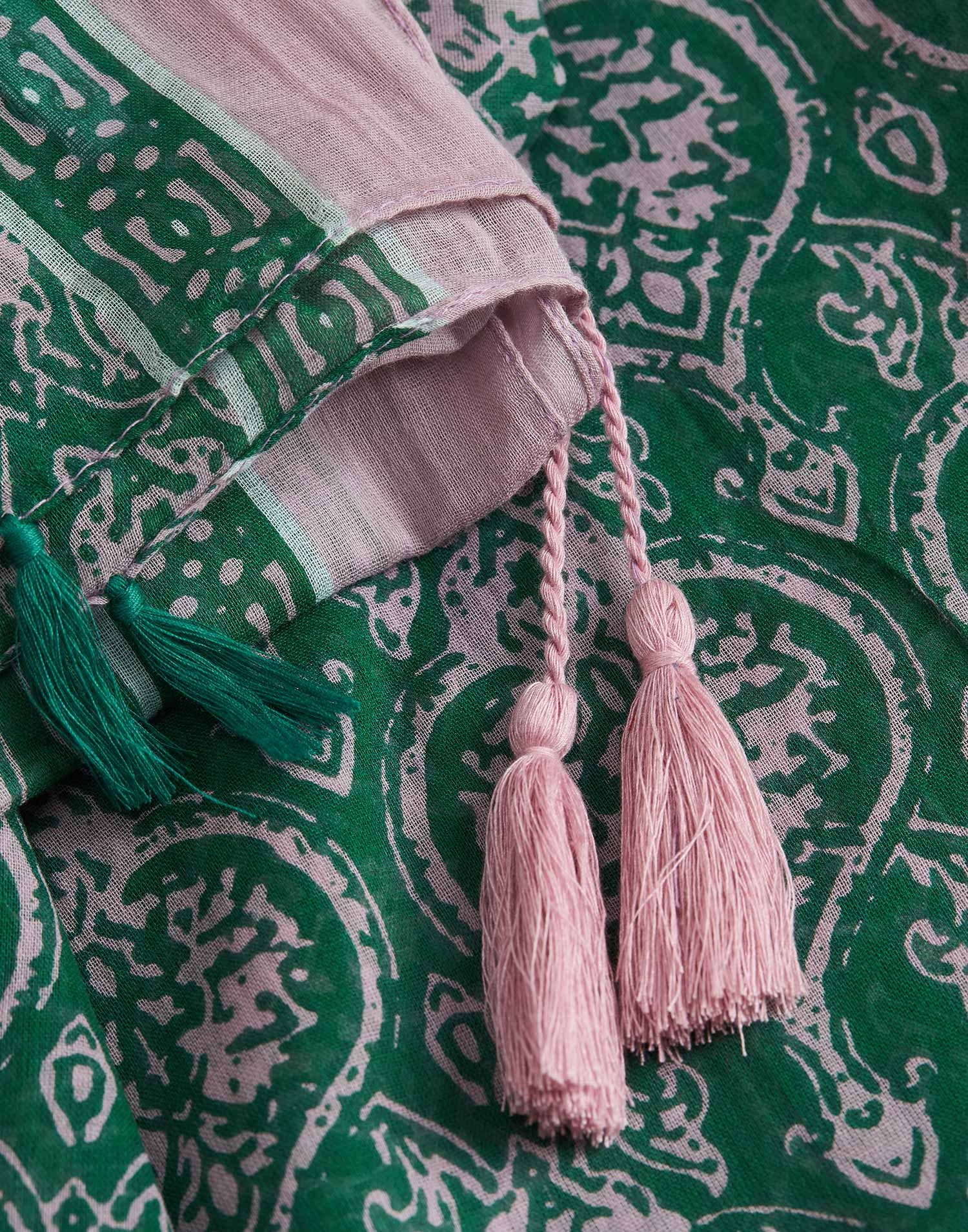 Fular print bicolor barroco cene