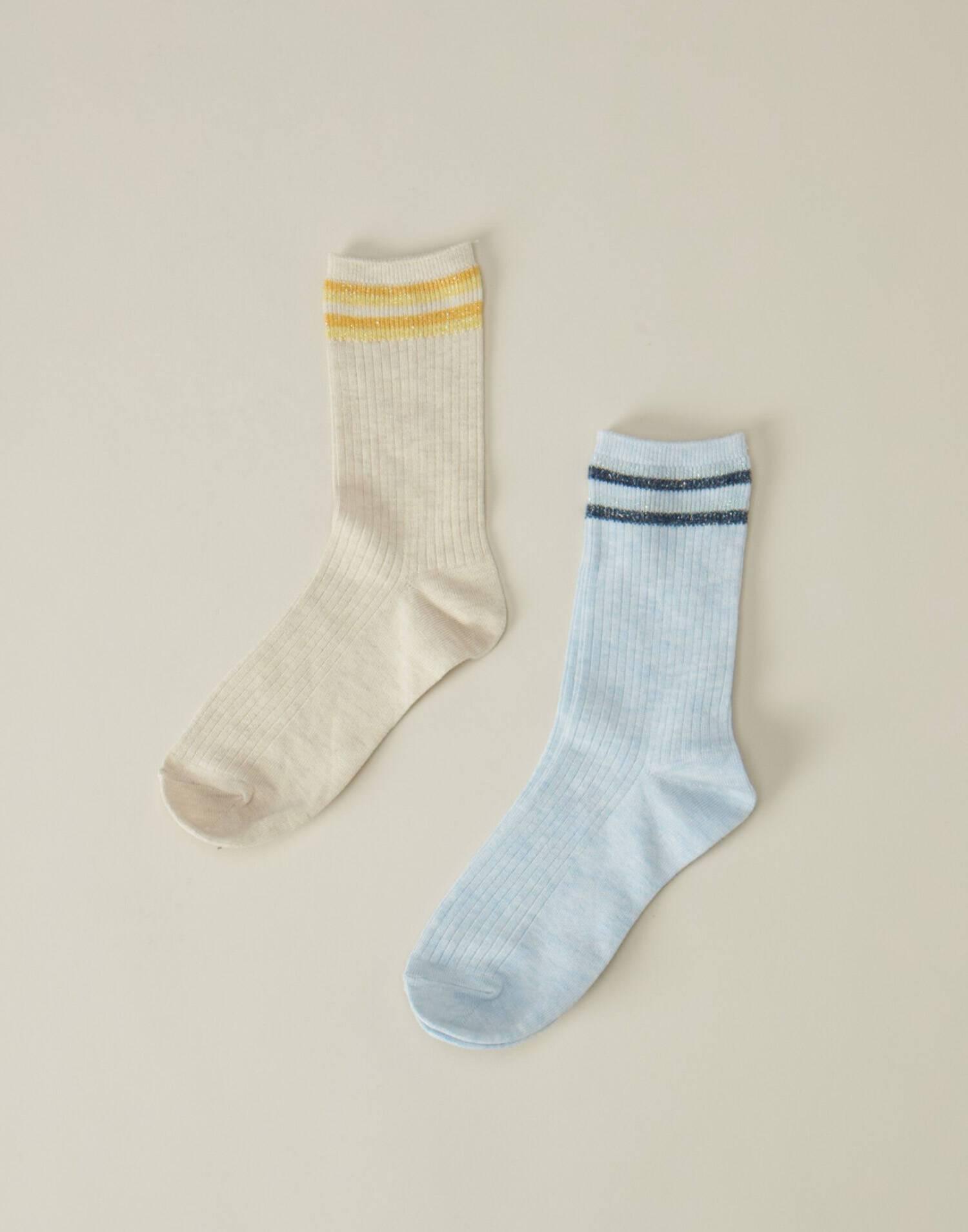 Set of 2 ribbed socks