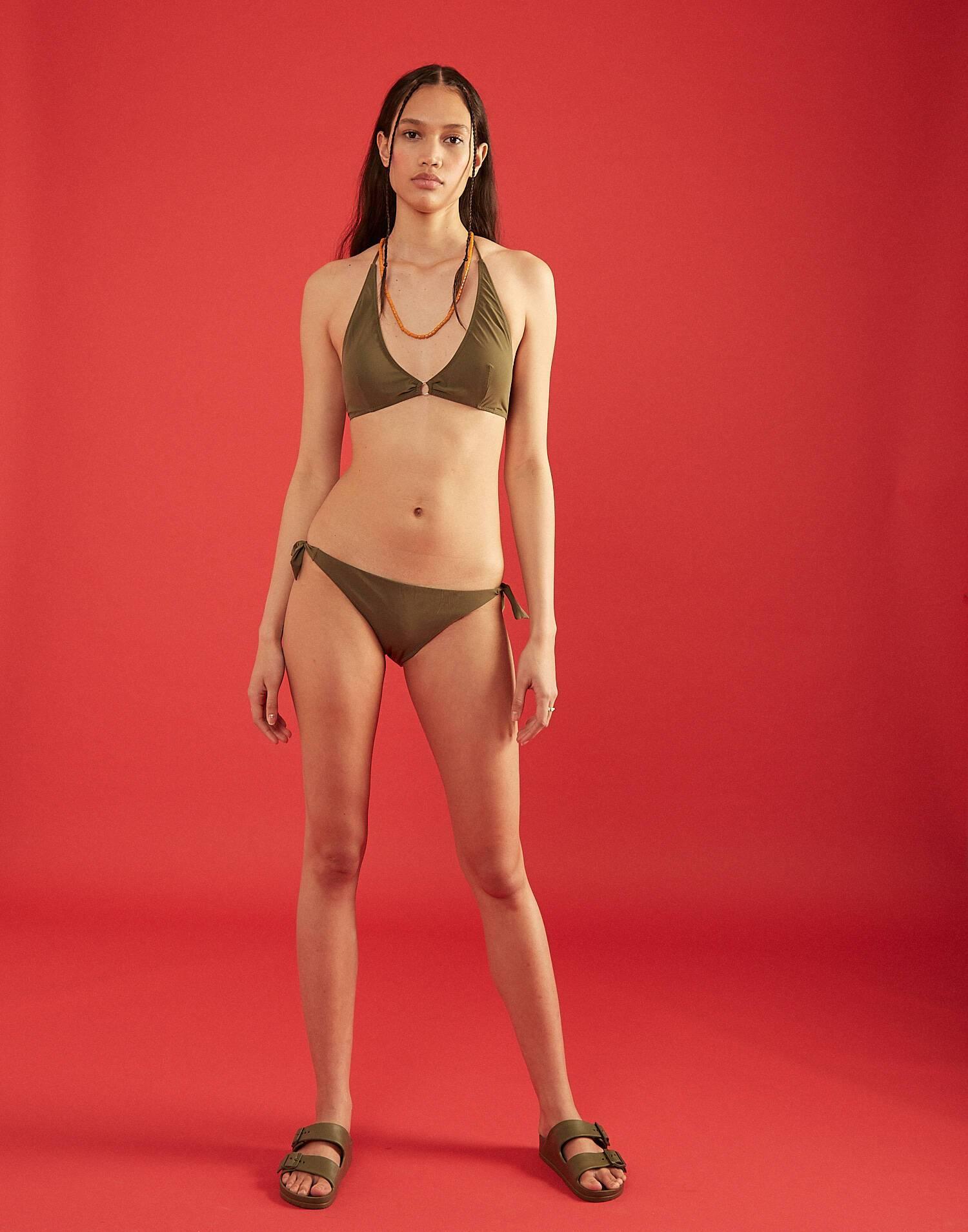 Braga bikini lazo ancho khaki