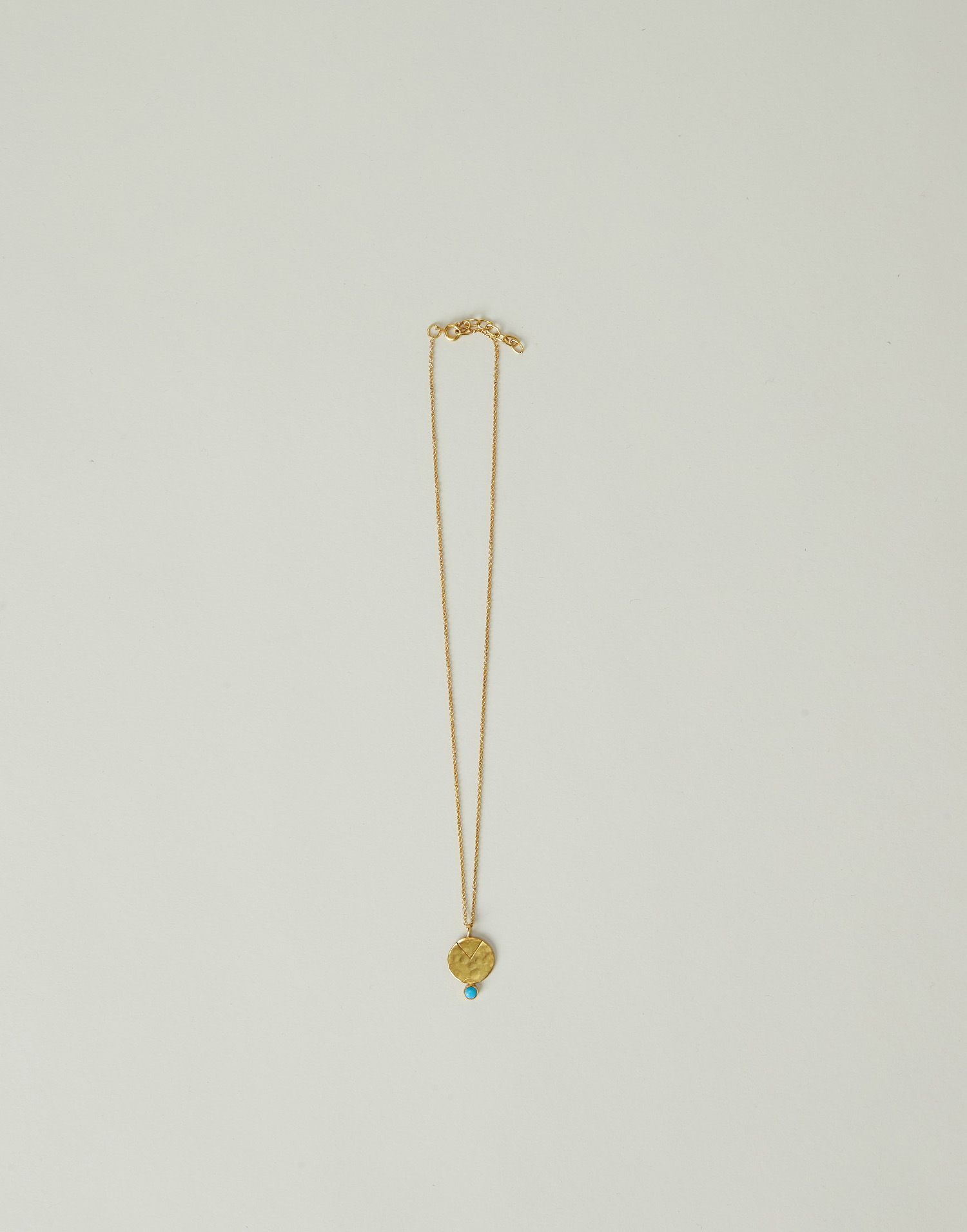 Gilded turquoise necklace