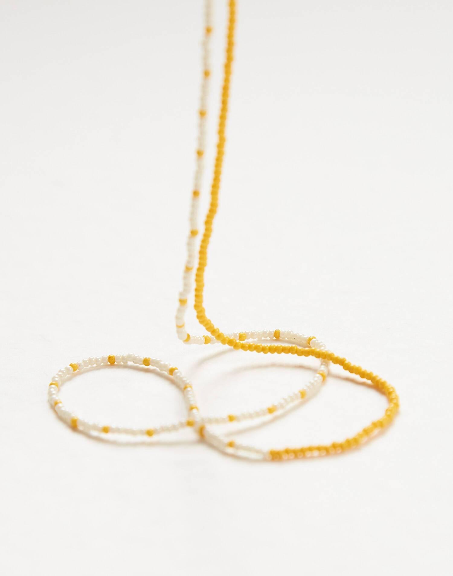 Collar bicolor beads