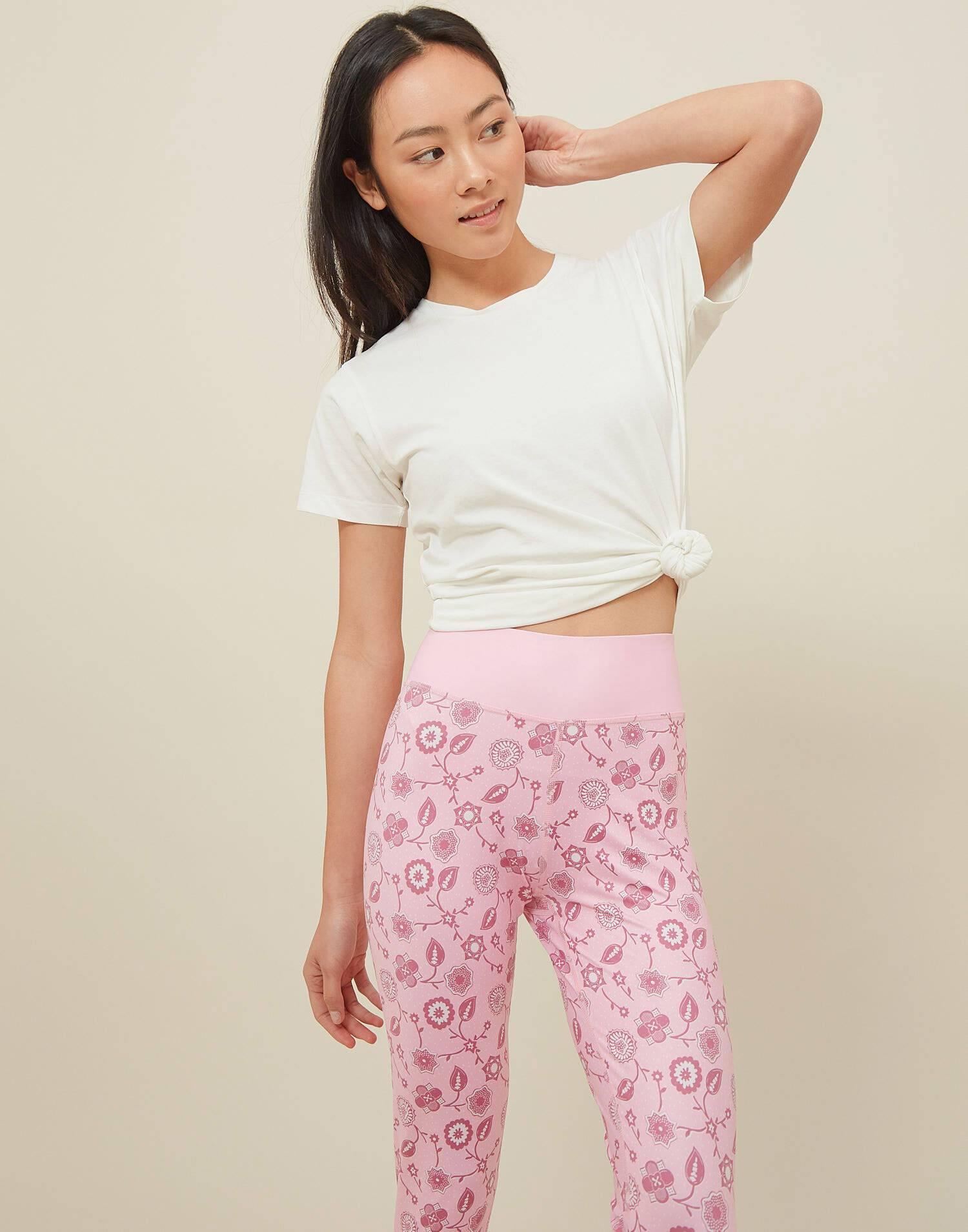 leggings yoga pink natura