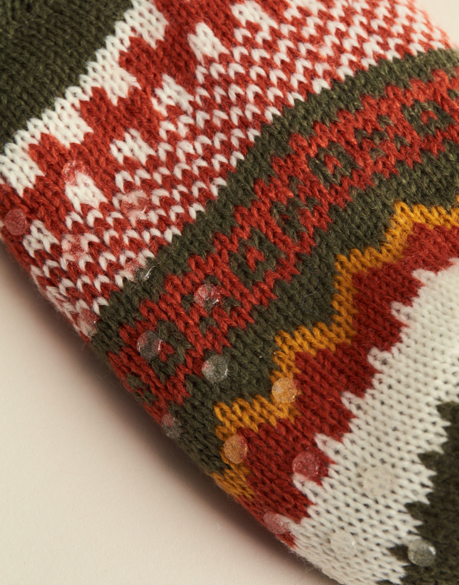 Unisex jacquard slipper socks