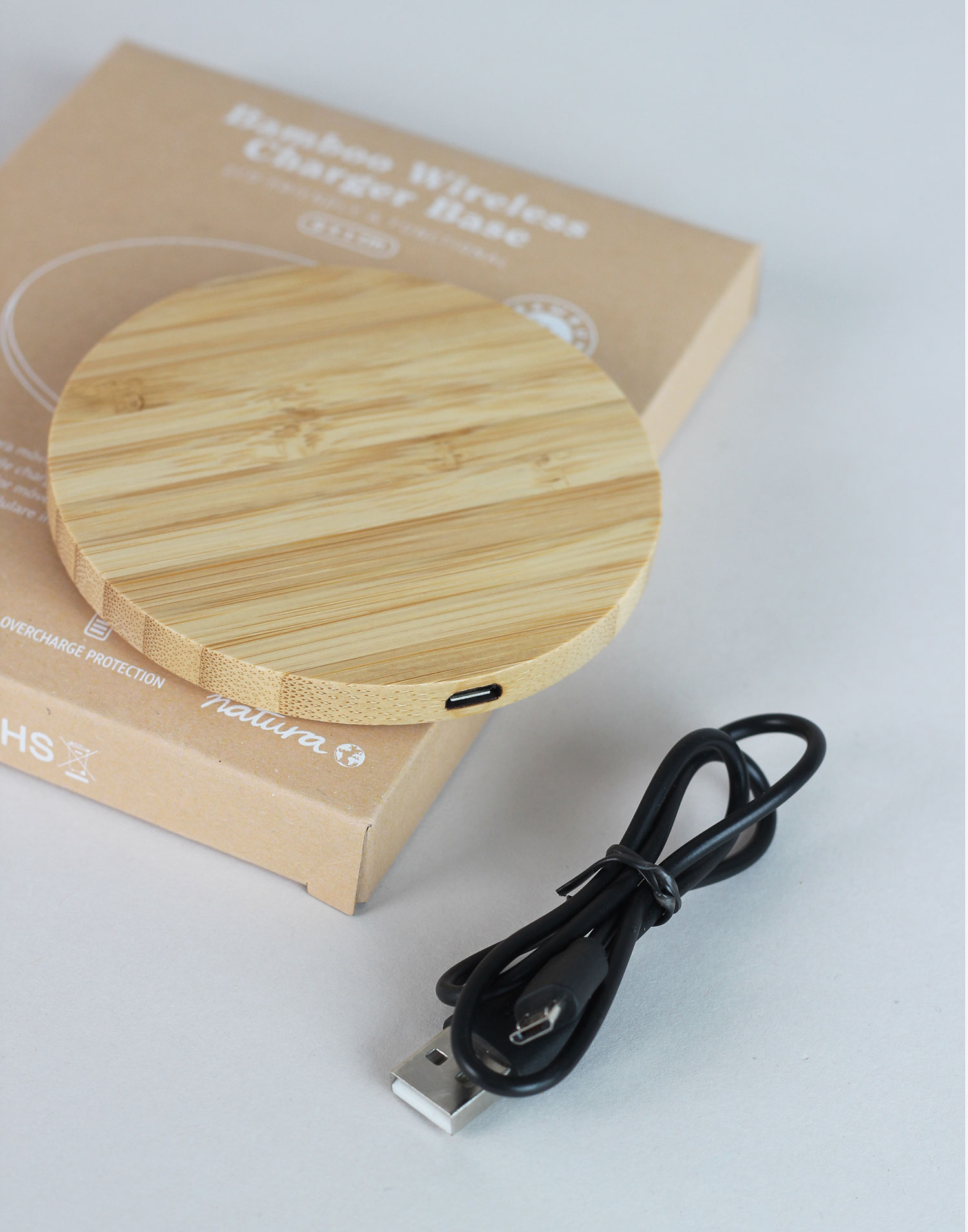 Bamboo mobile charger base