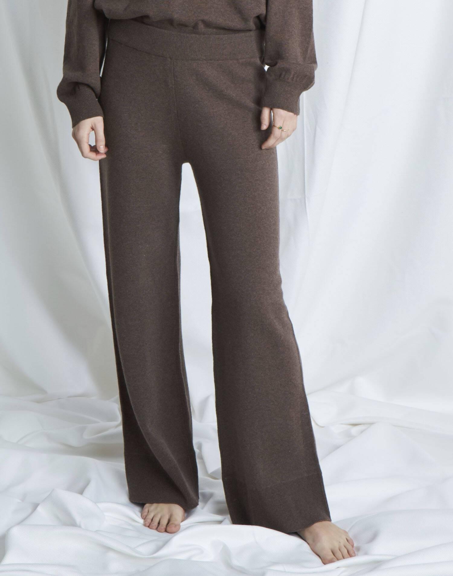 Pantalón ancho tricot orgánico