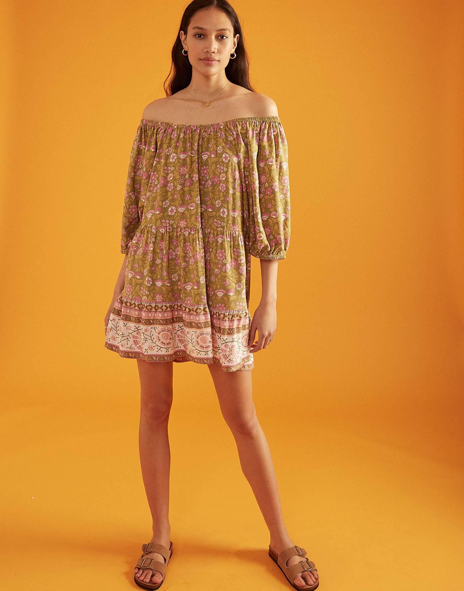 Off-the-shoulder mini dress