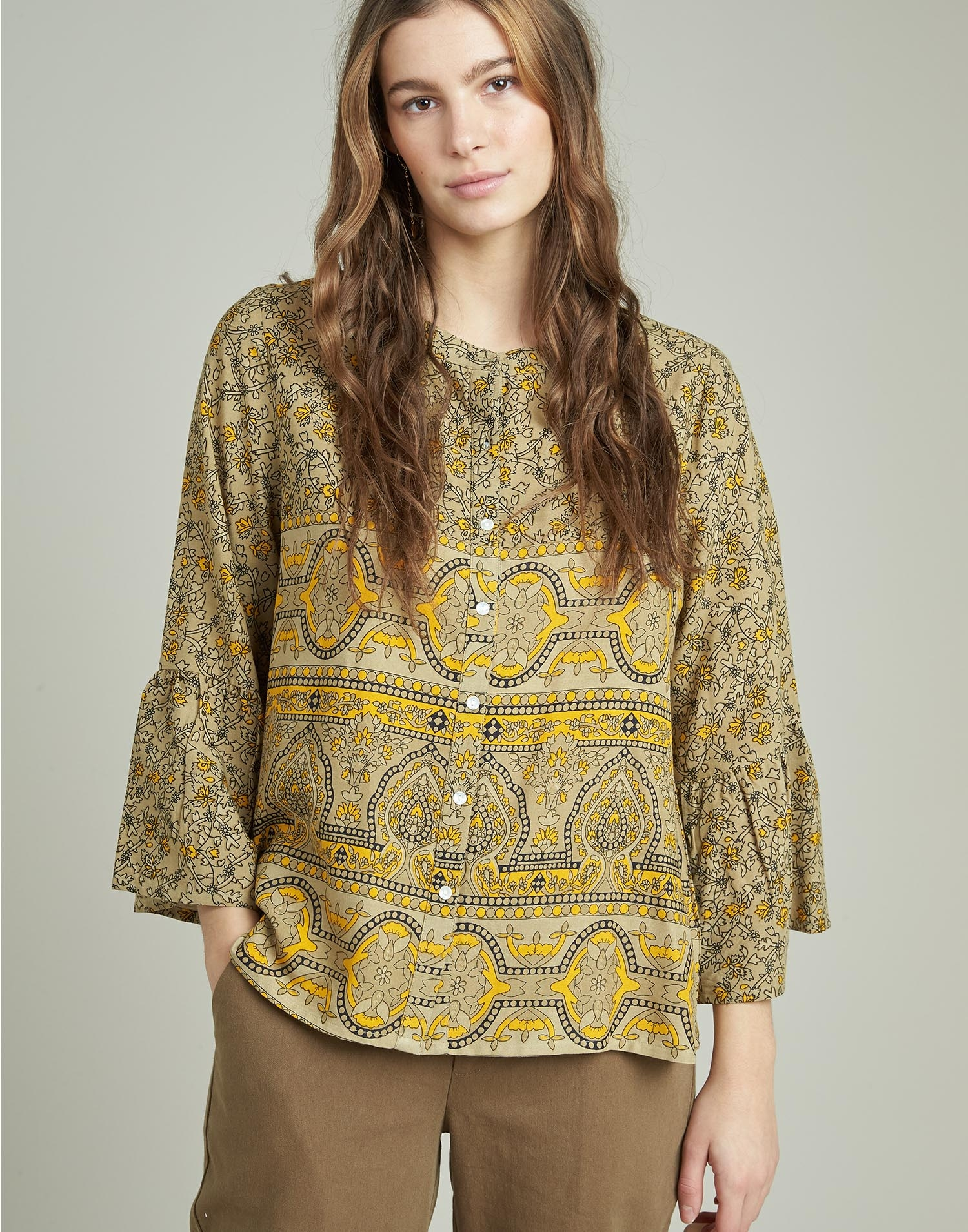 Indian flower blouse