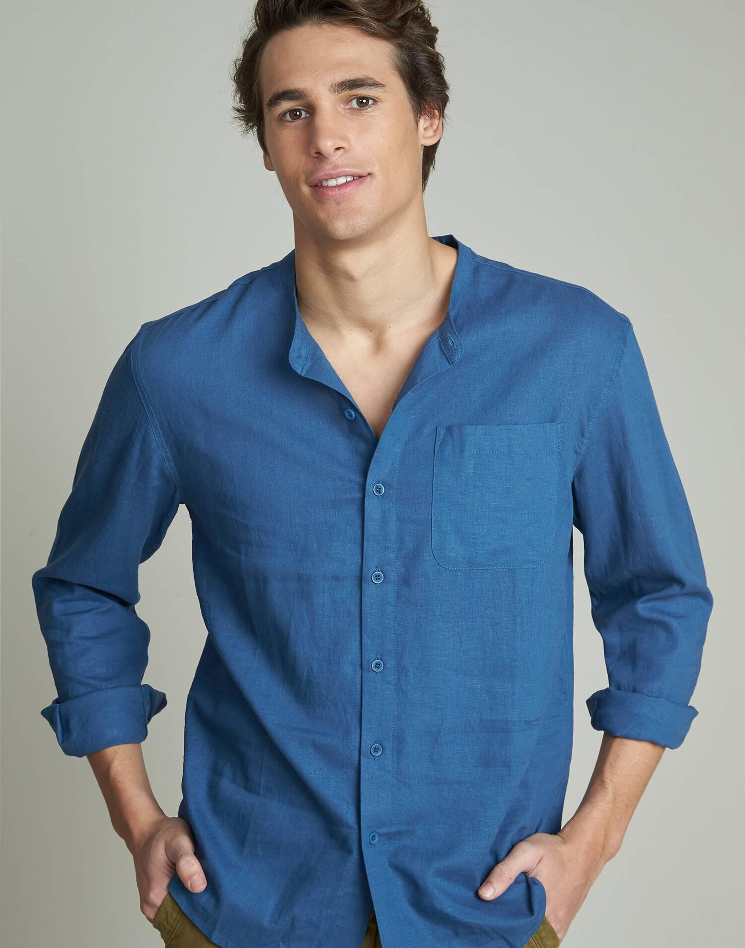 Camisa lino hombre