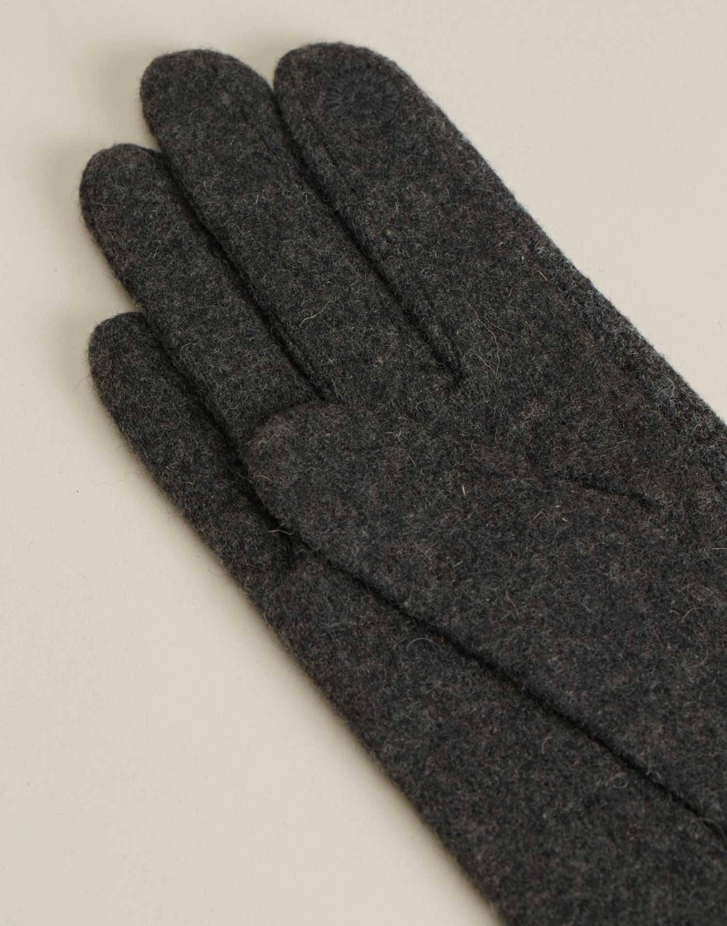 Wool and jersey tech glove
