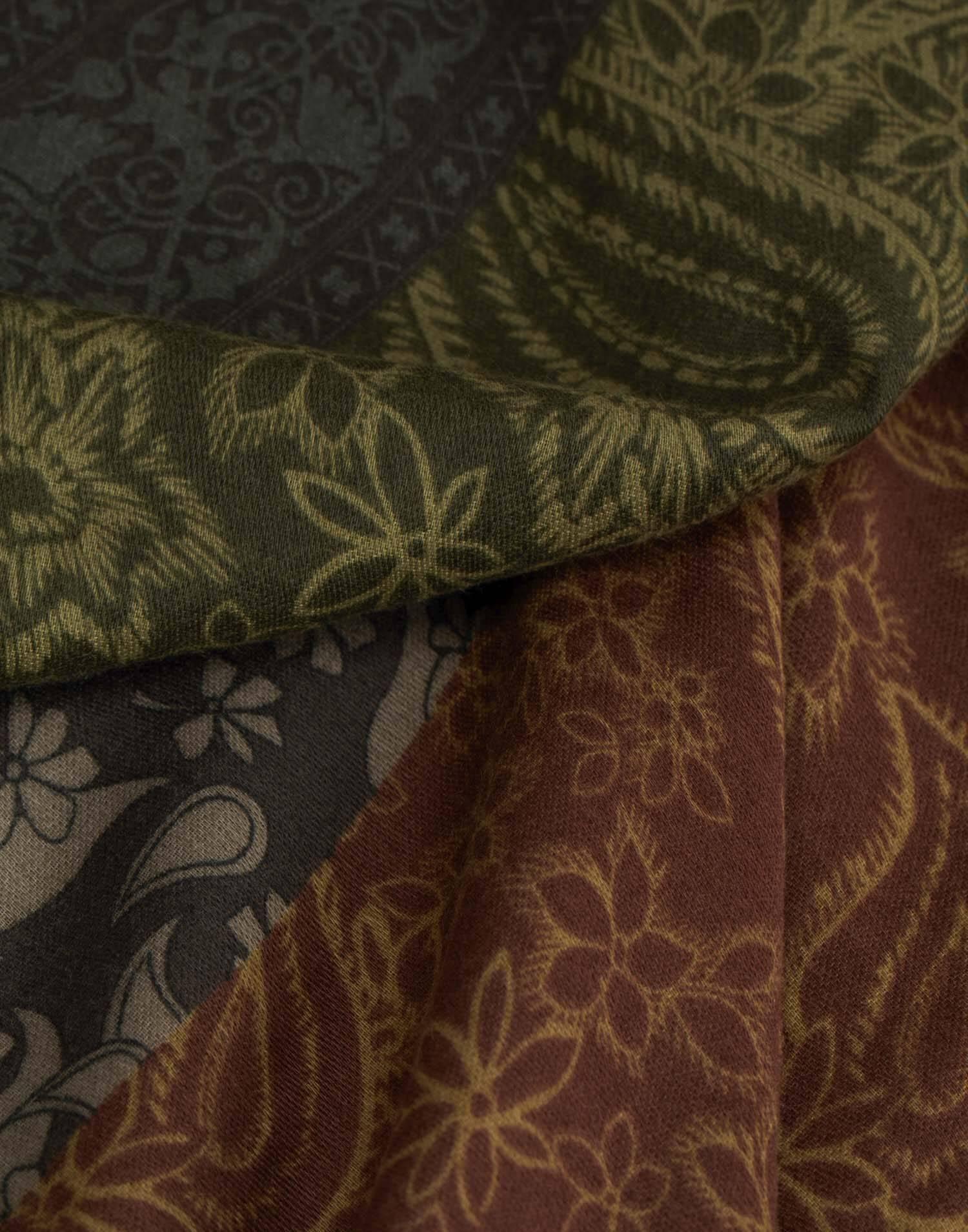 Foulard patchwork paisleys