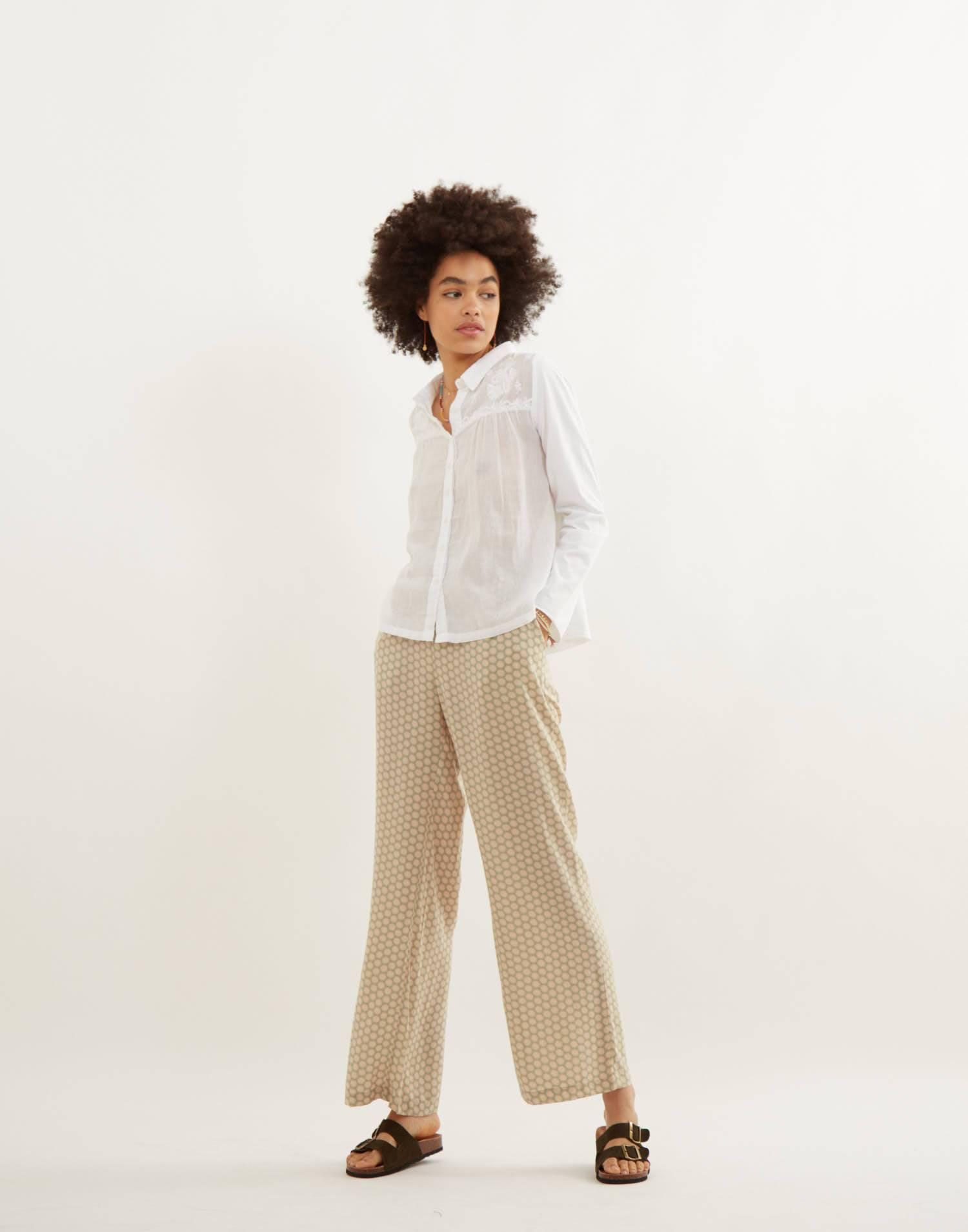 Pantalón combinación prints