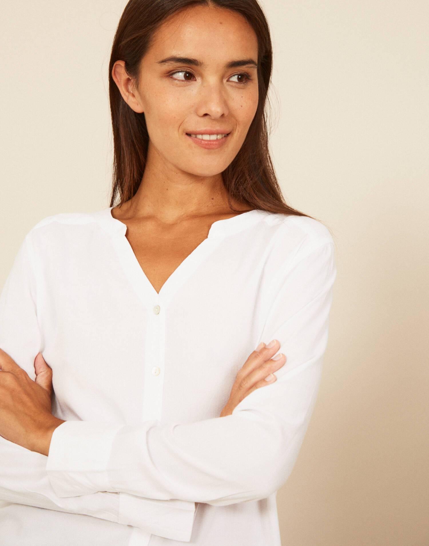 Camisa básica viscosa