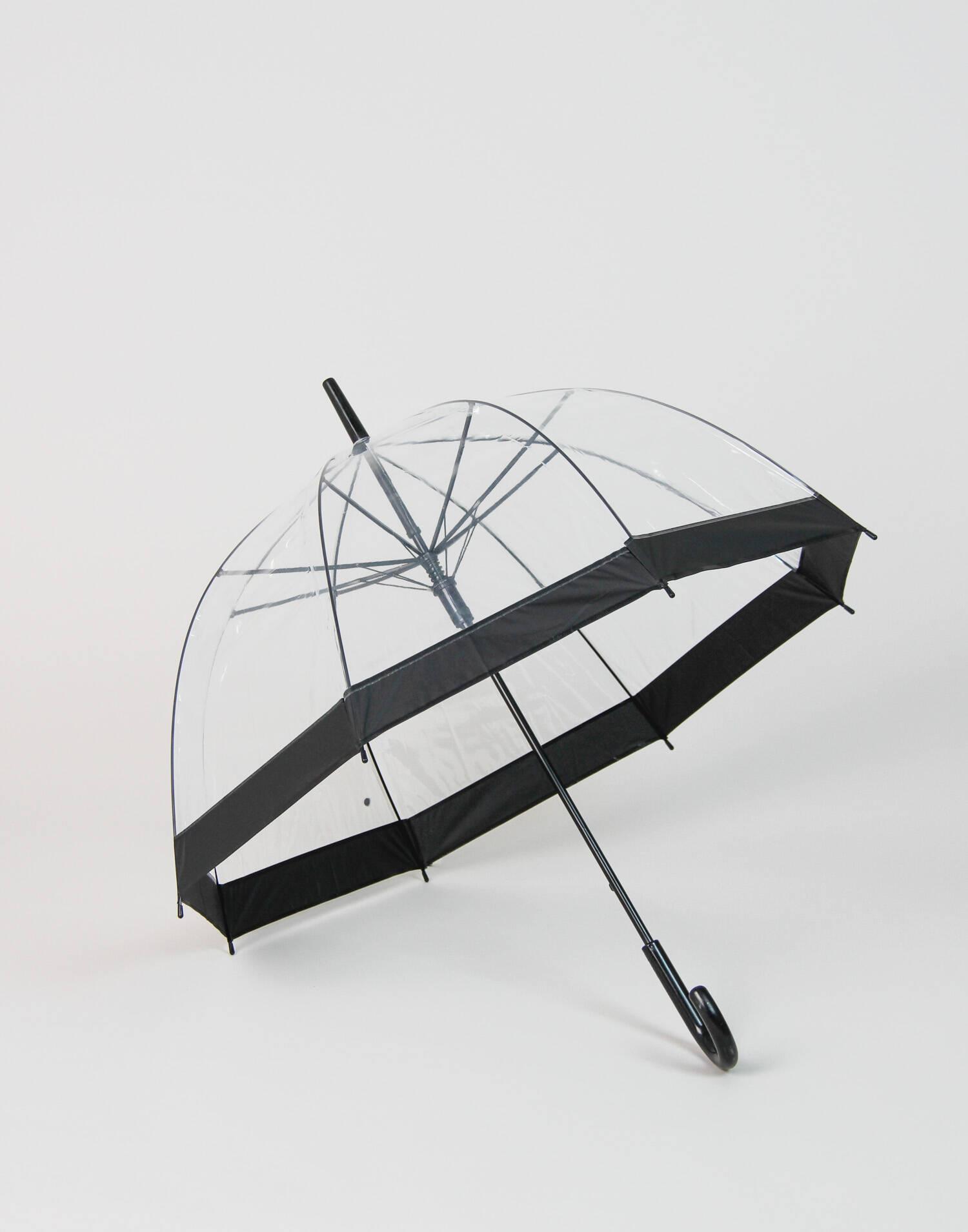 Runder und kugelförmiger regenschirm