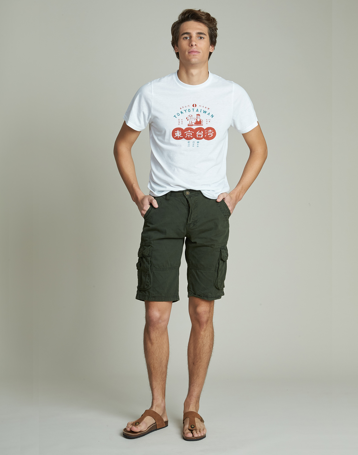Bermuda homme avec poches