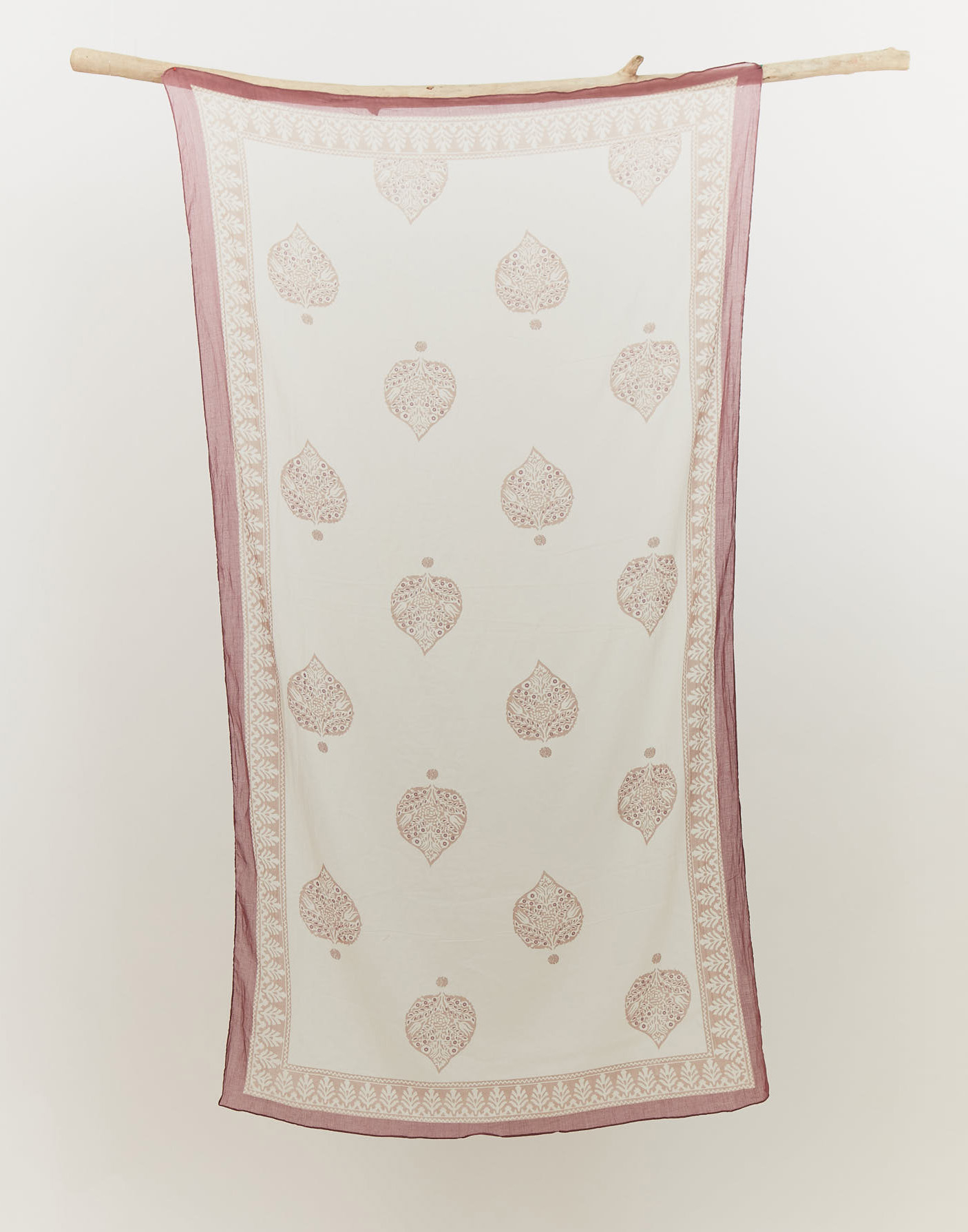 Stamp cotton scarf