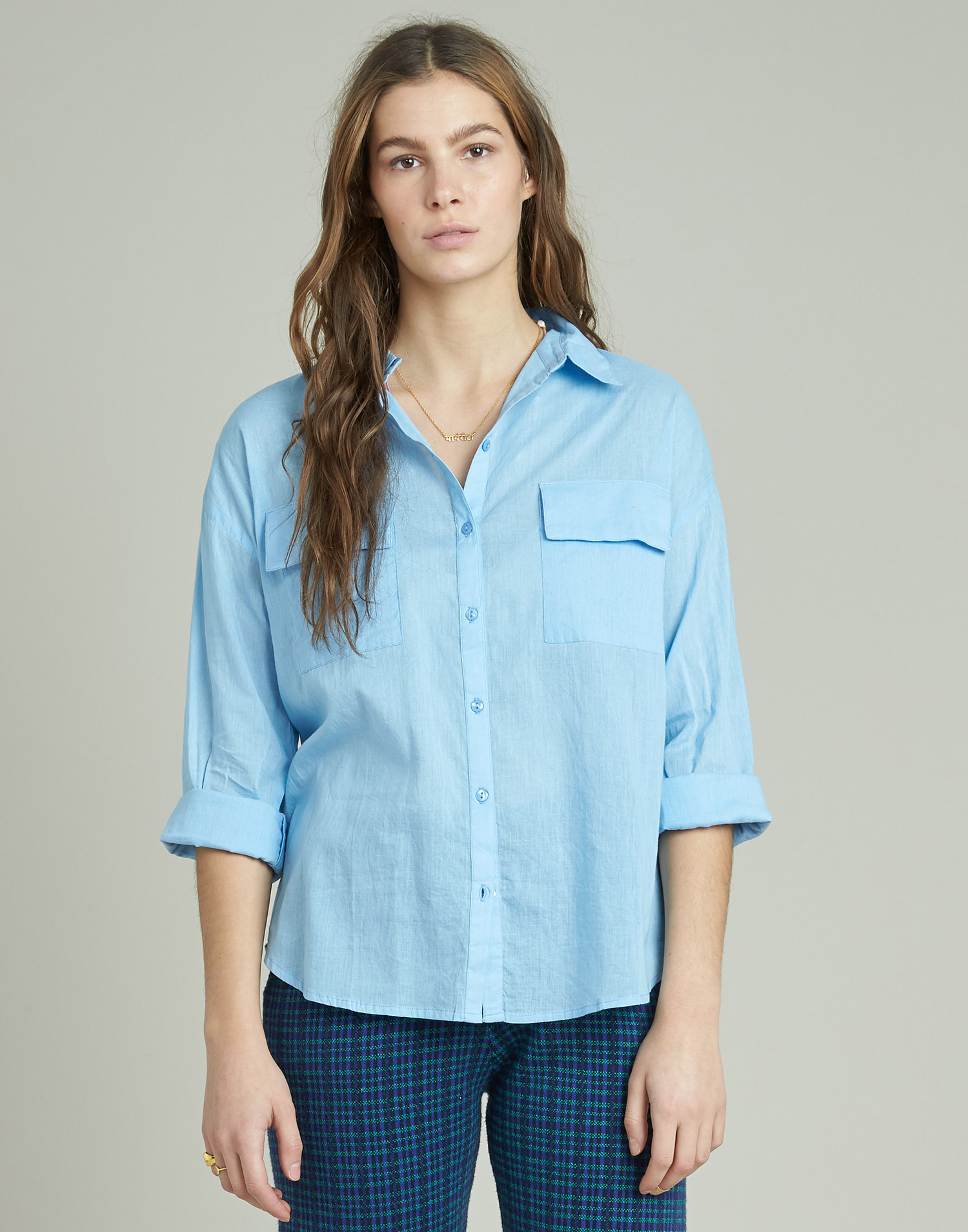 Patch pockets shirt