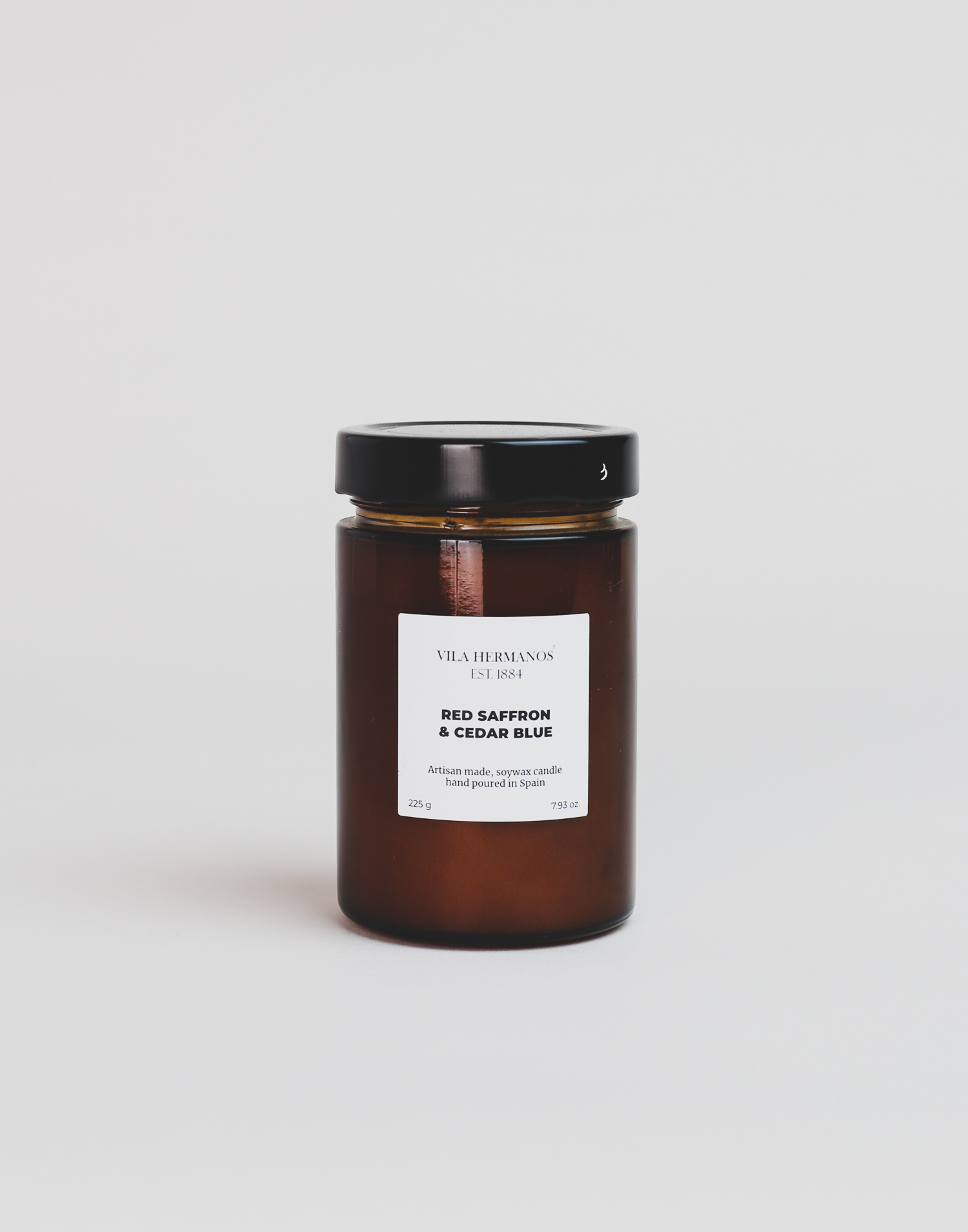 Apothecary natural glass candle