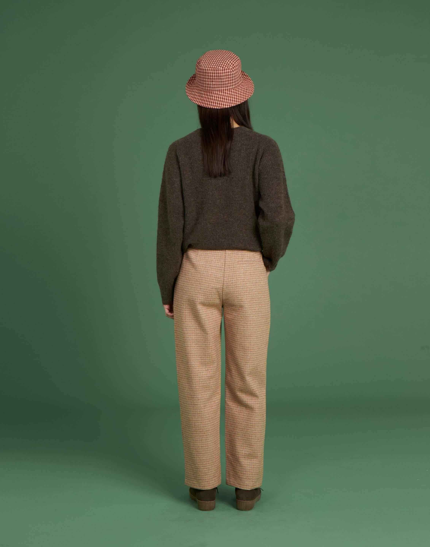 Pantalón largo cuadro