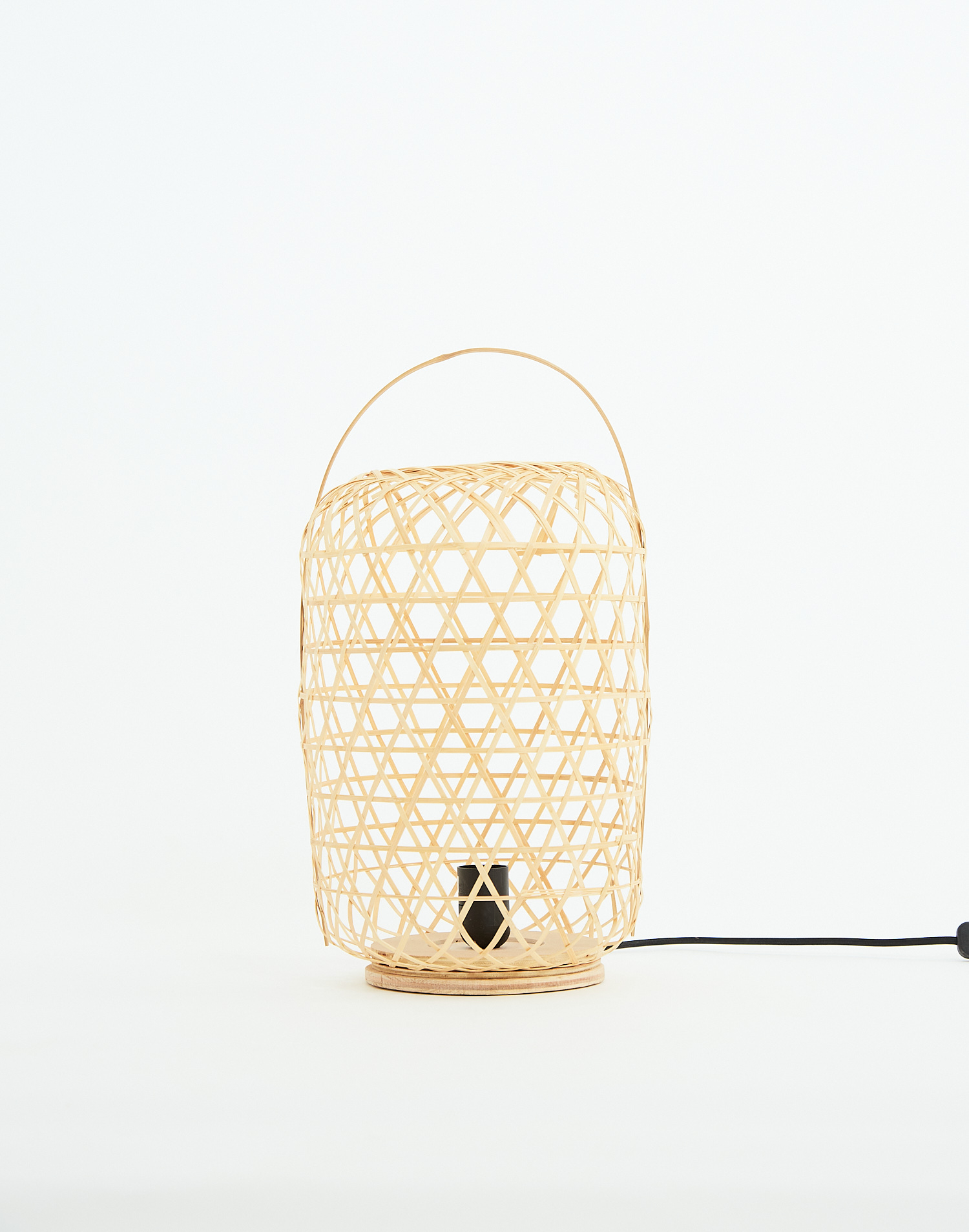 Lámpara sobremesa bambú 26x26x55cm