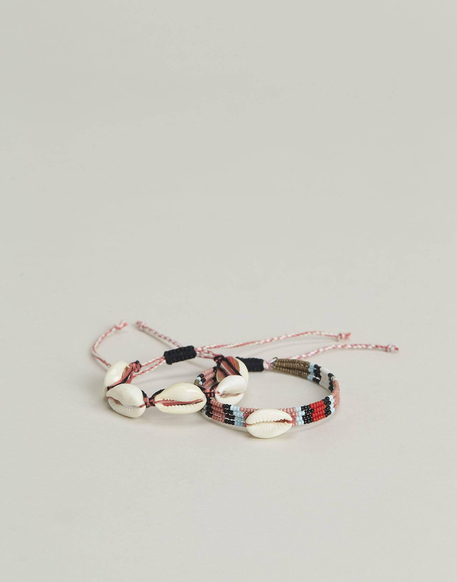 Set 2 pulseras conchas