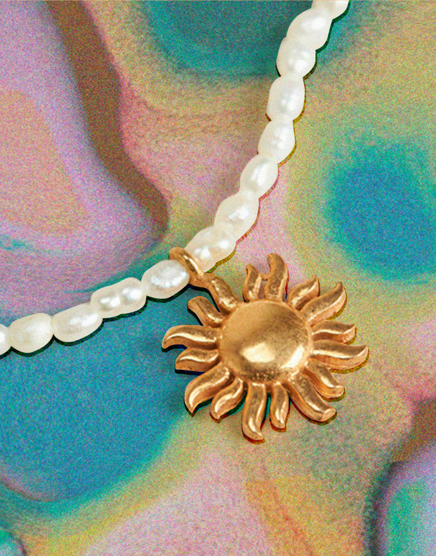 Gold-plated sun pearl bracelet