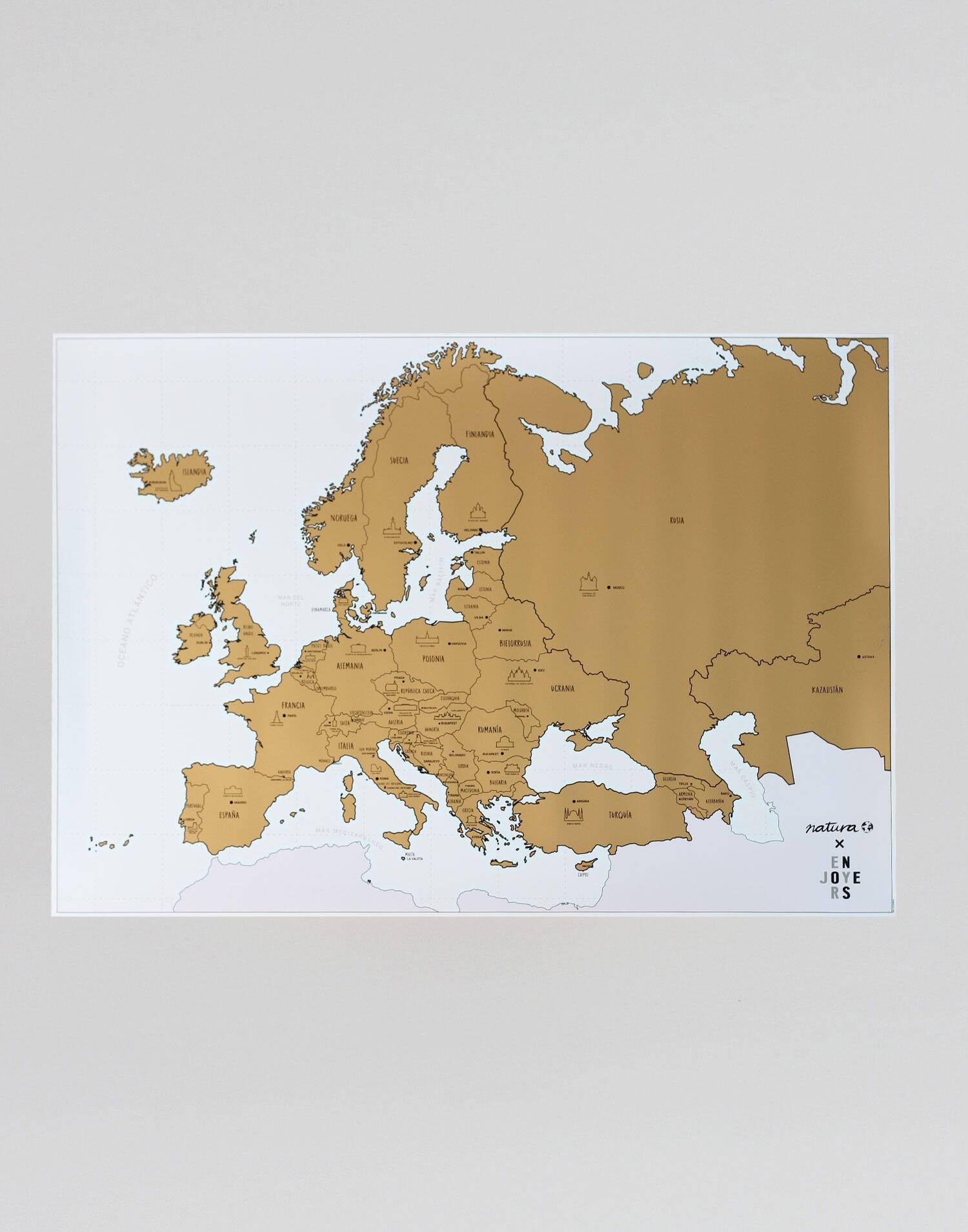 European monuments scratch map