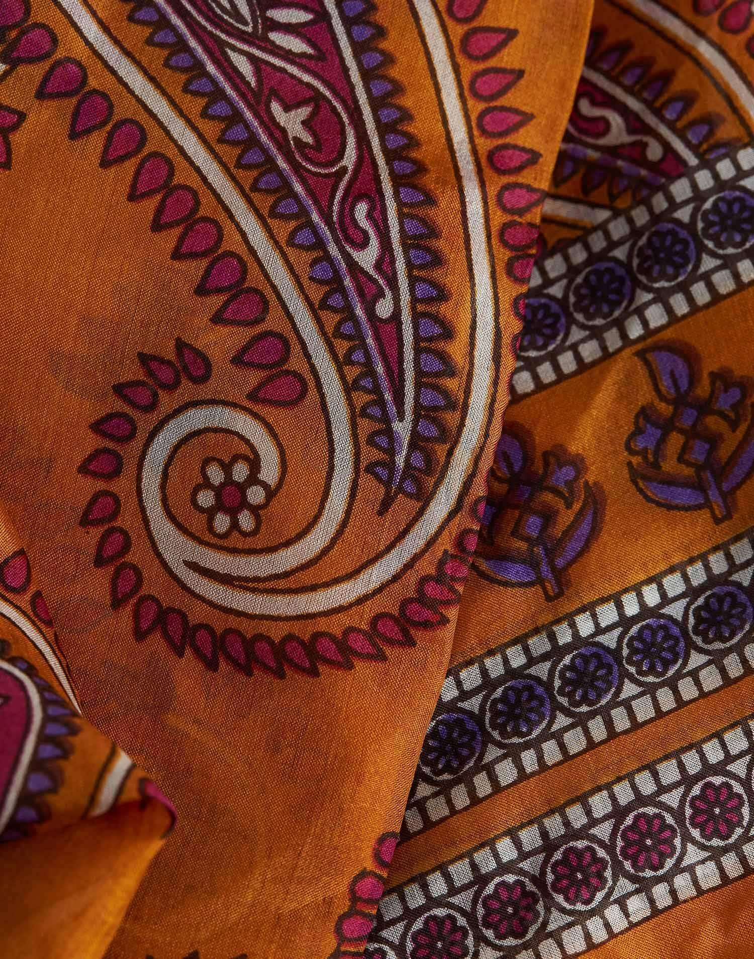 Paisley print silk foulard
