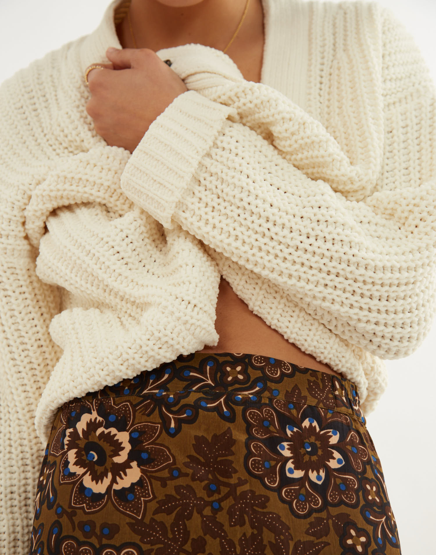 Falda midi flor batik