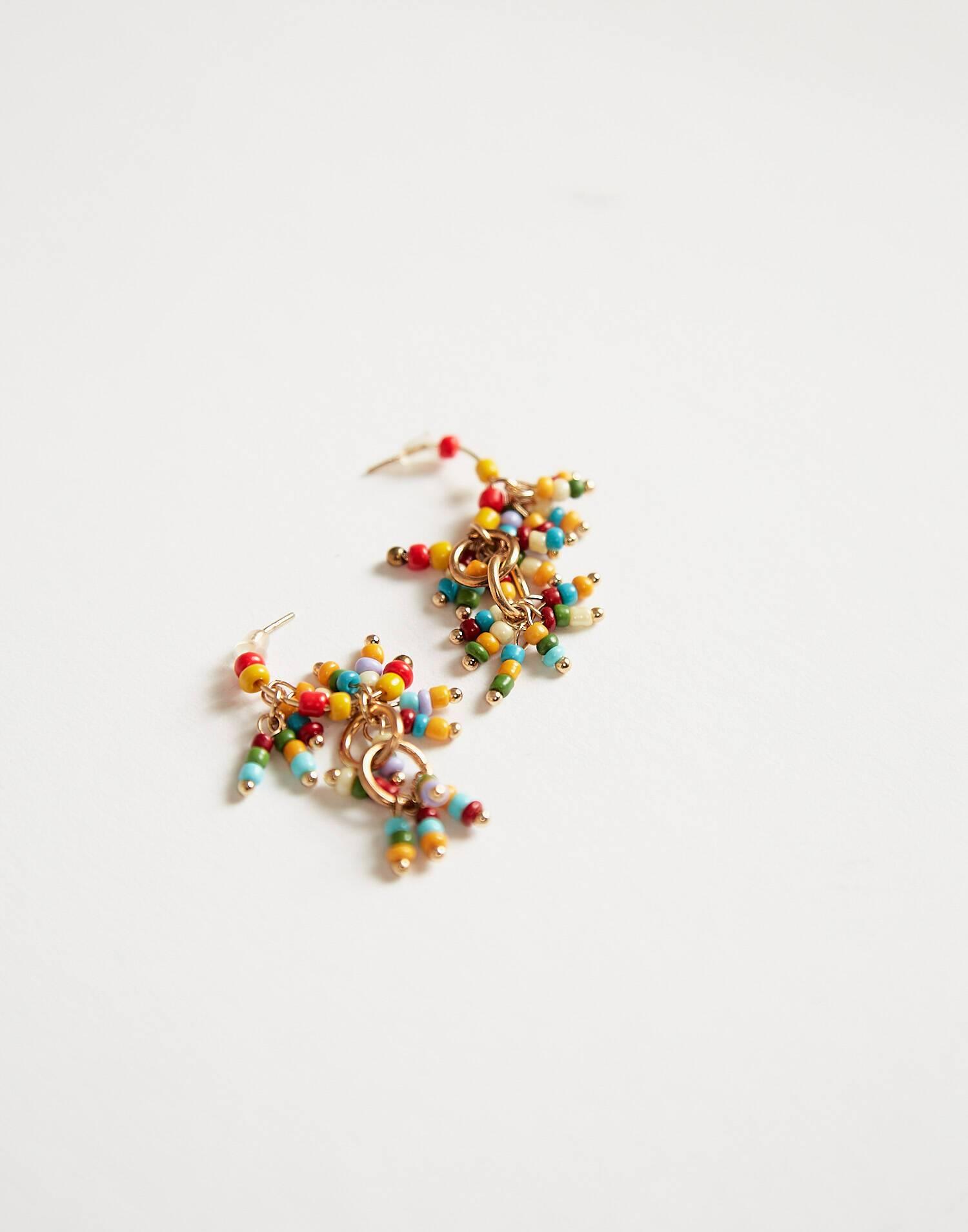 Multibeads drop earring