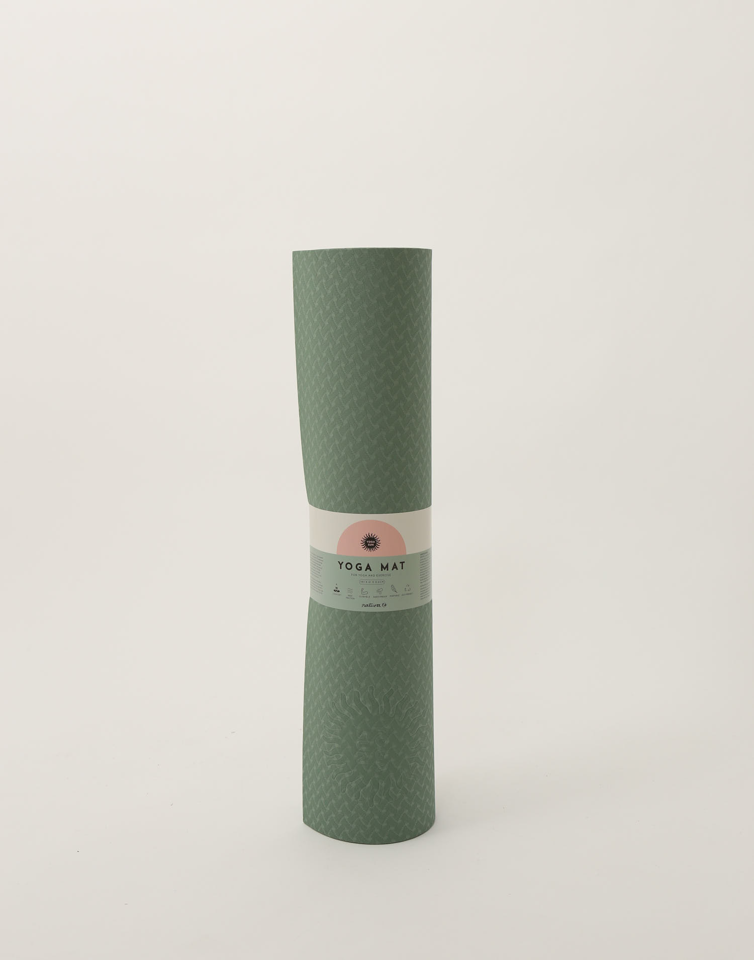 Yoga mat yoga sun