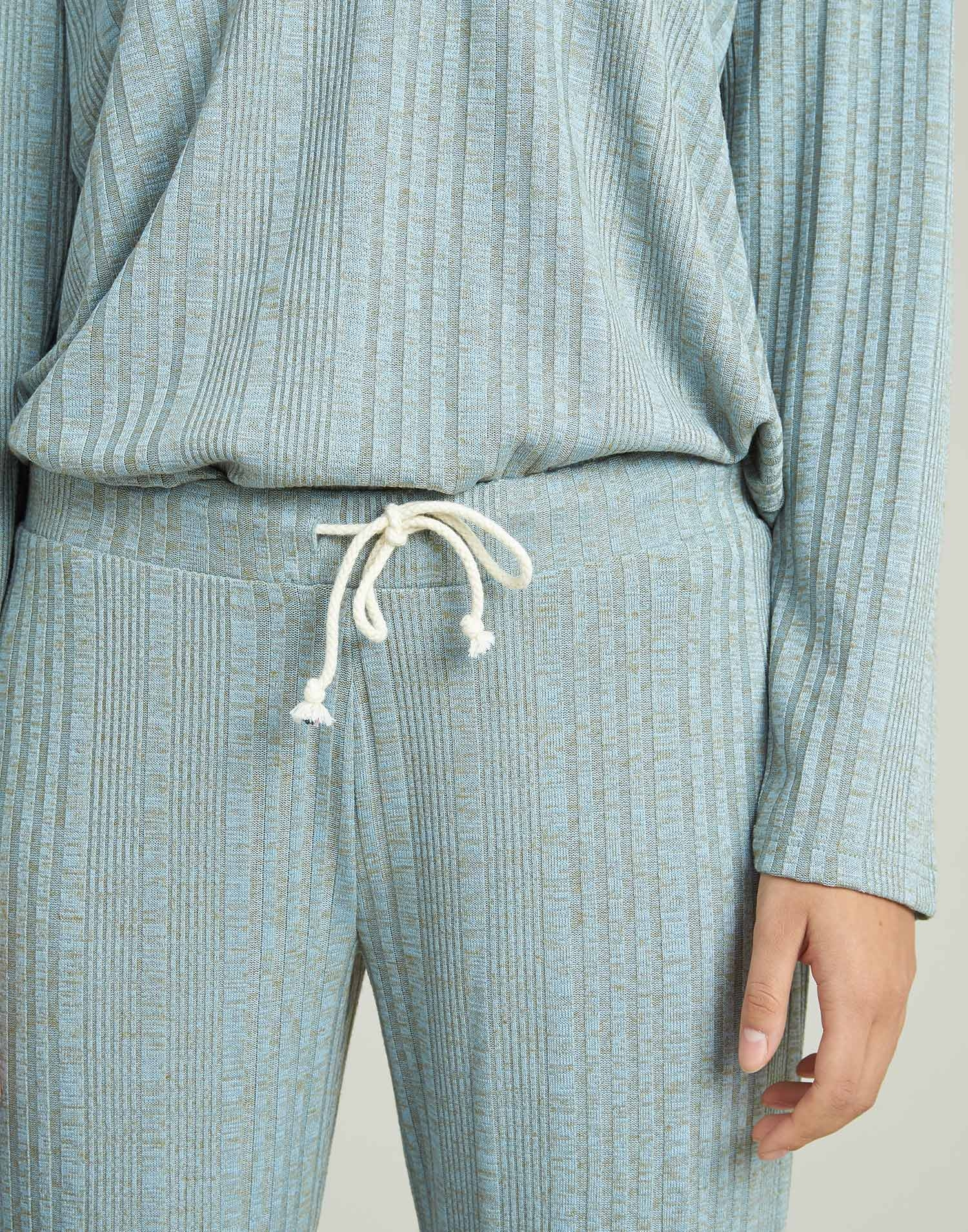 Wide ribbed pant