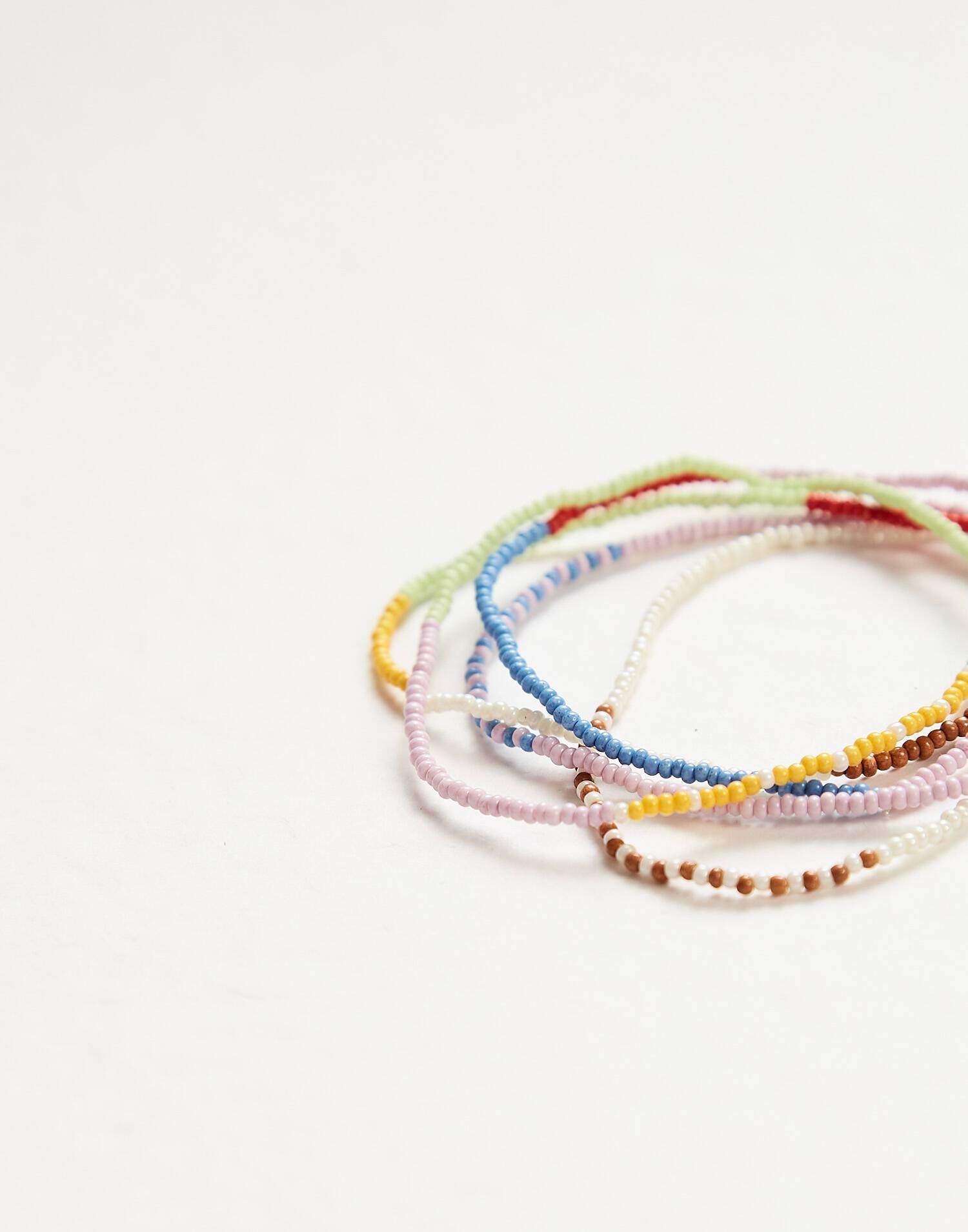 Set pulseras multicolor beads